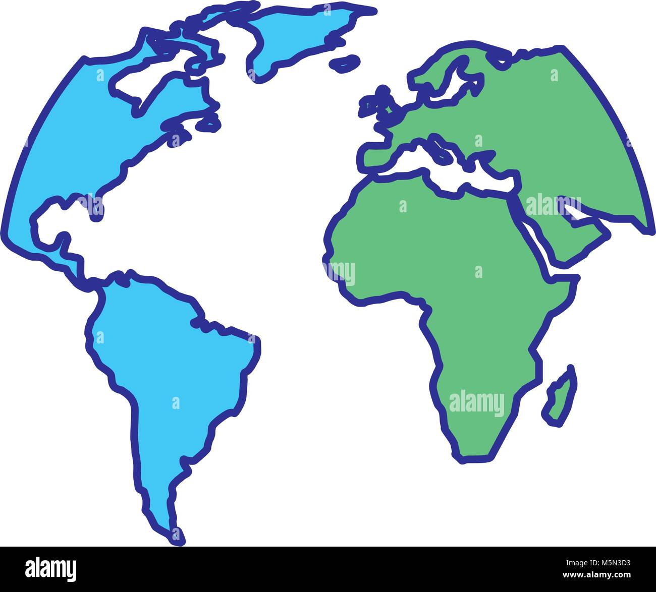 Silhouette world map location planet stock vector art illustration silhouette world map location planet gumiabroncs Choice Image