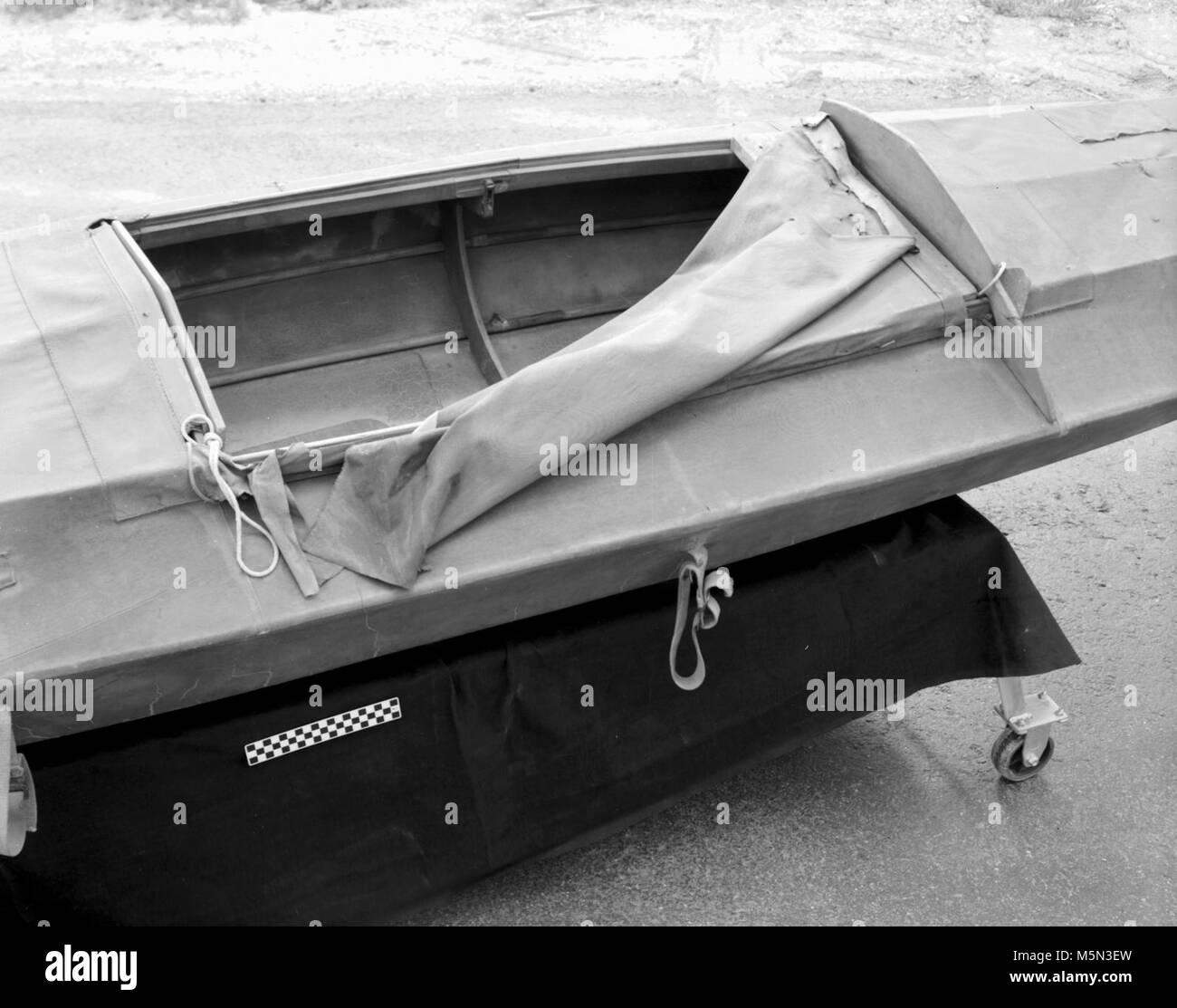 GRCA Grand Canyon Historical Boat Collection Escalante Kayak . Catalog # GRCA 7604  Object: KAYAK Description:  Stock Photo