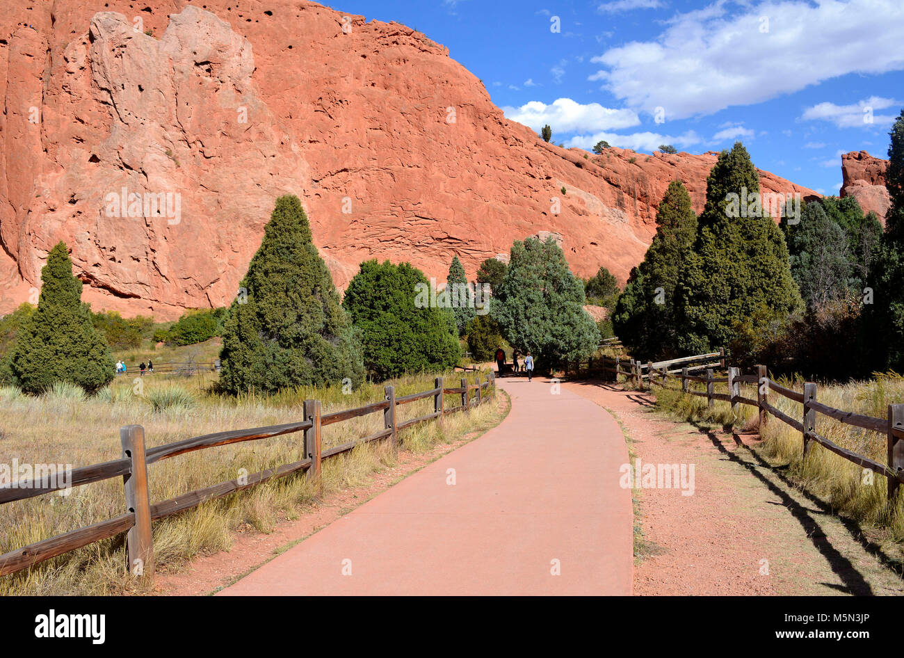 Pathway to Garden of the Gods - Stock Image