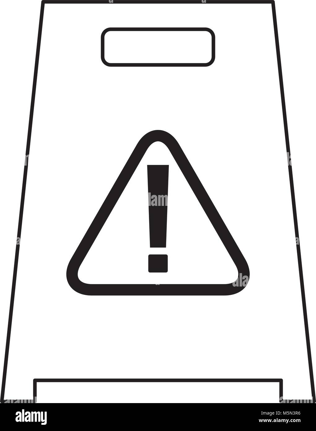 slippery wet floor sign warning cleaning - Stock Vector