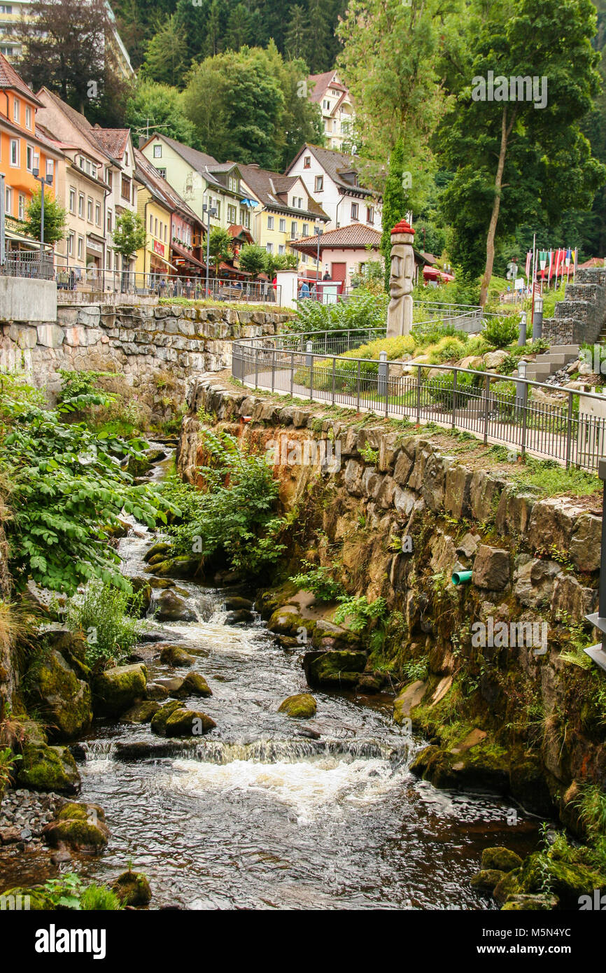 Gutach river at Triberg, in the black forest , baden wuttemberg, Germany - Stock Image