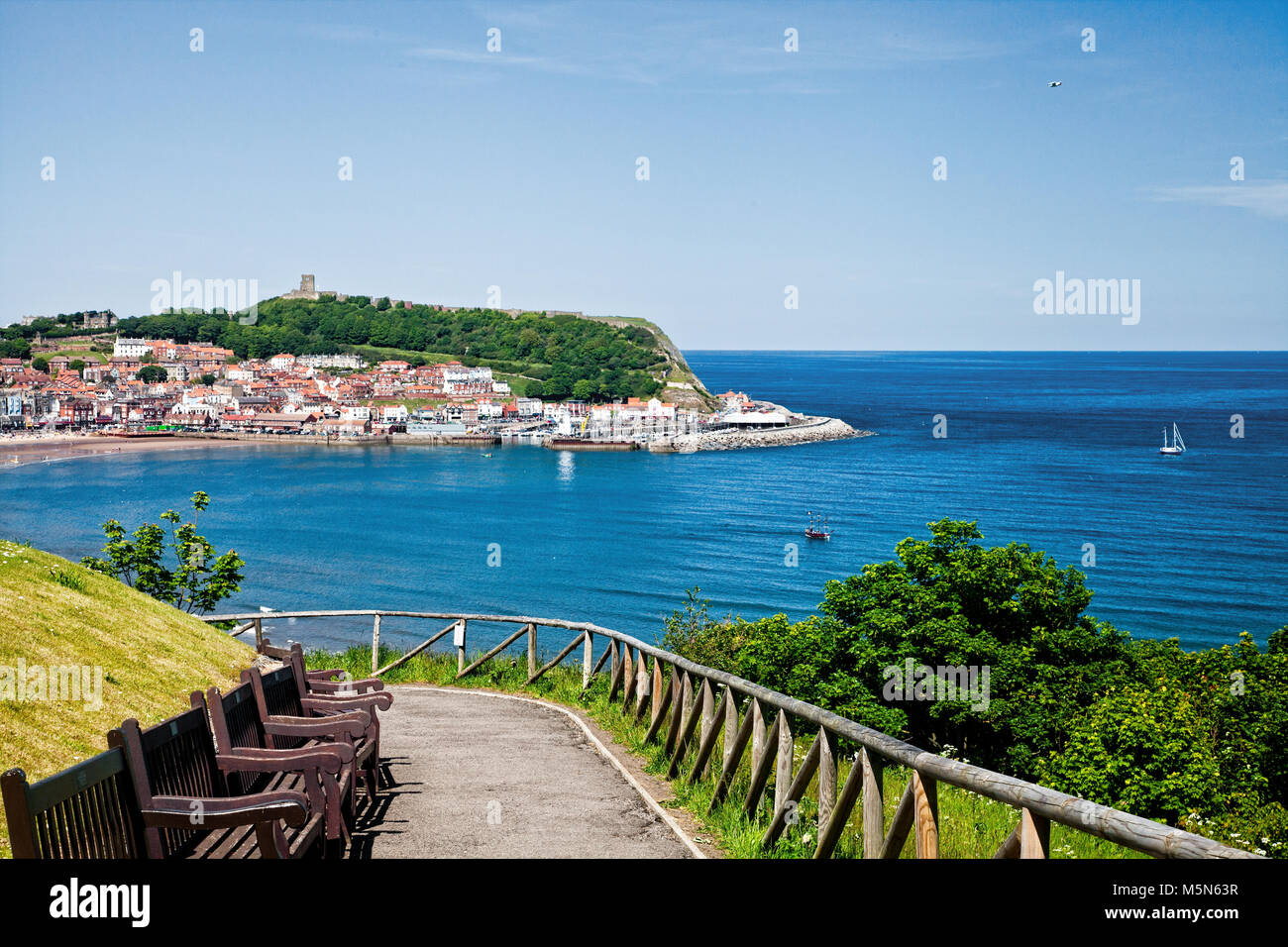 Scarborough is a popular seaside resort on the Yorkshire coast of England. - Stock Image