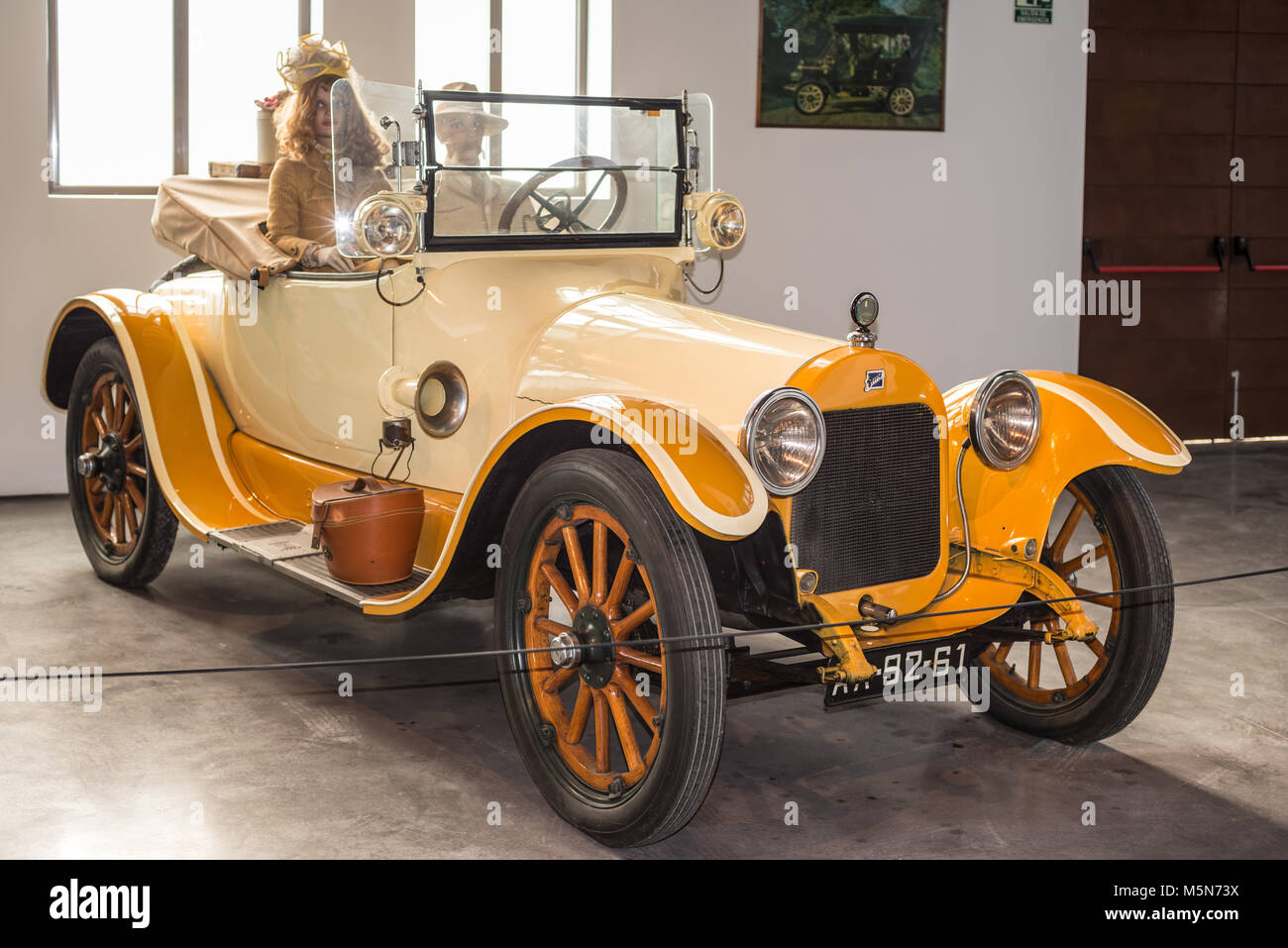 Malaga, Spain - December 7, 2016: Vintage Buick 1916 car displayed at Malaga Automobile Museum - Stock Image