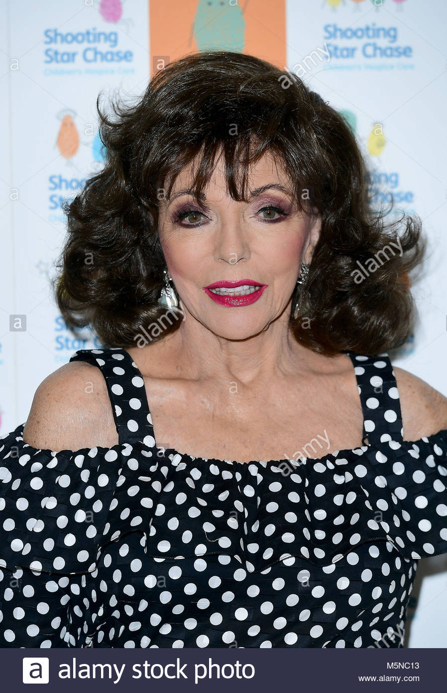 File photo dated 26/05/17 of Dame Joan Collins, who after four divorces says she has found one way to keep a marriage - Stock Image