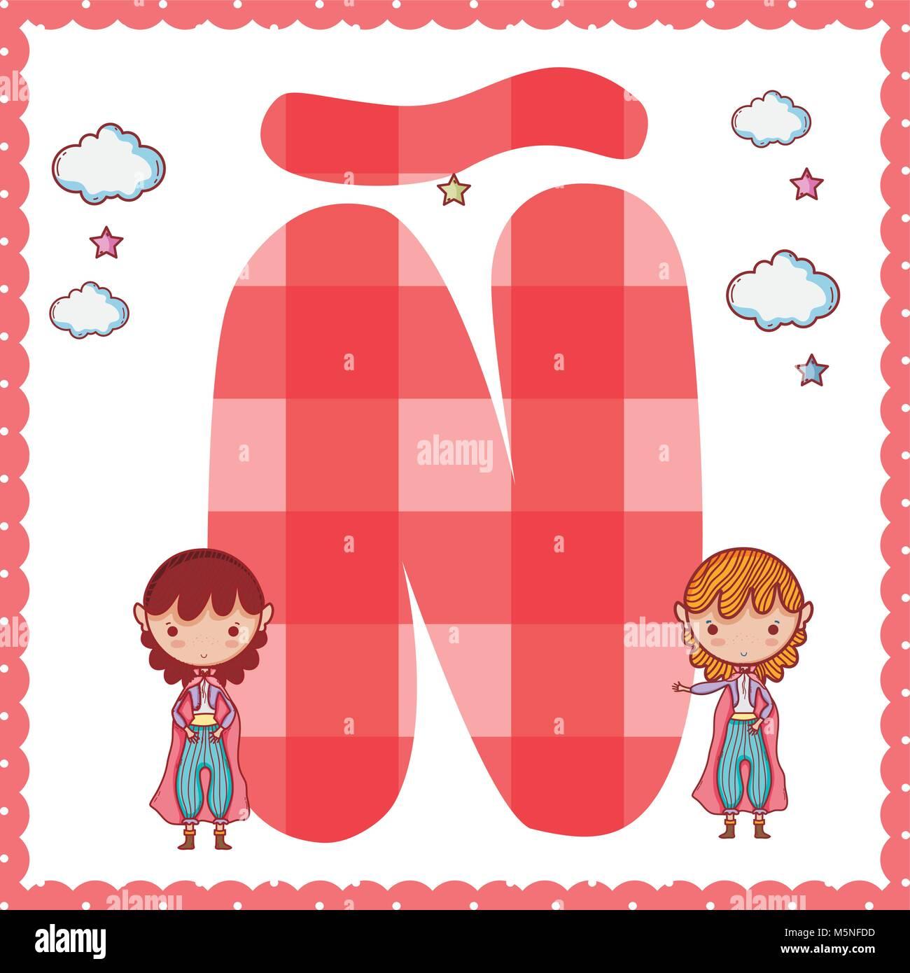 Cartoon Letter N Stock Photos & Cartoon Letter N Stock Images - Alamy