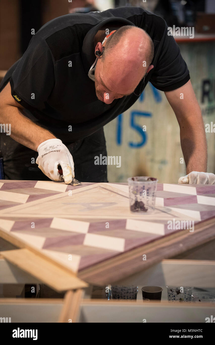 Parquet flooring. Dutch Championship. - Stock Image