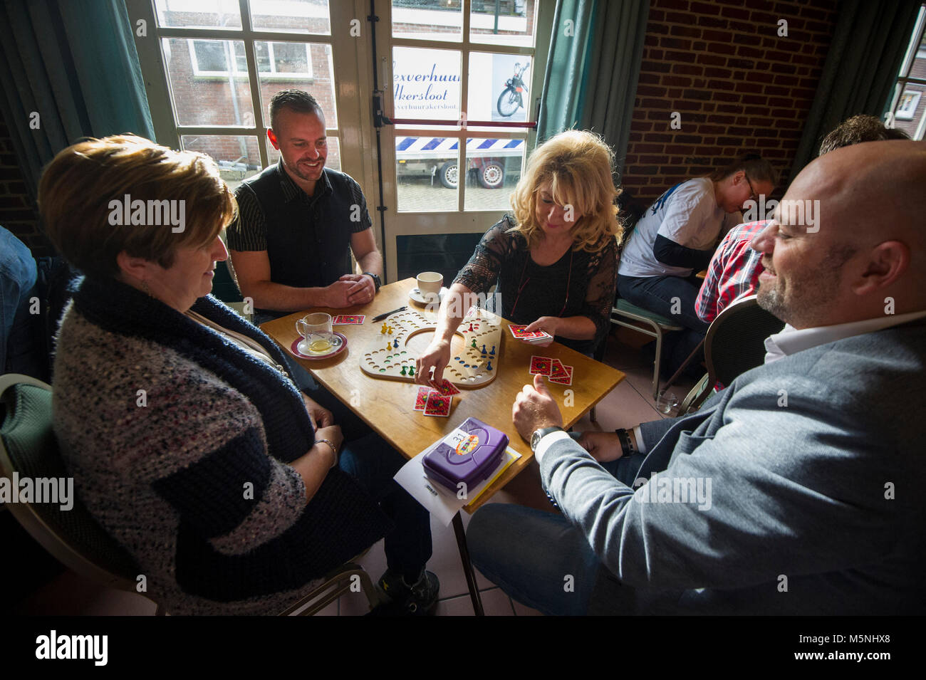 Playing Tock at the Dutch Championship. The Netherlands. Akersloot. - Stock Image