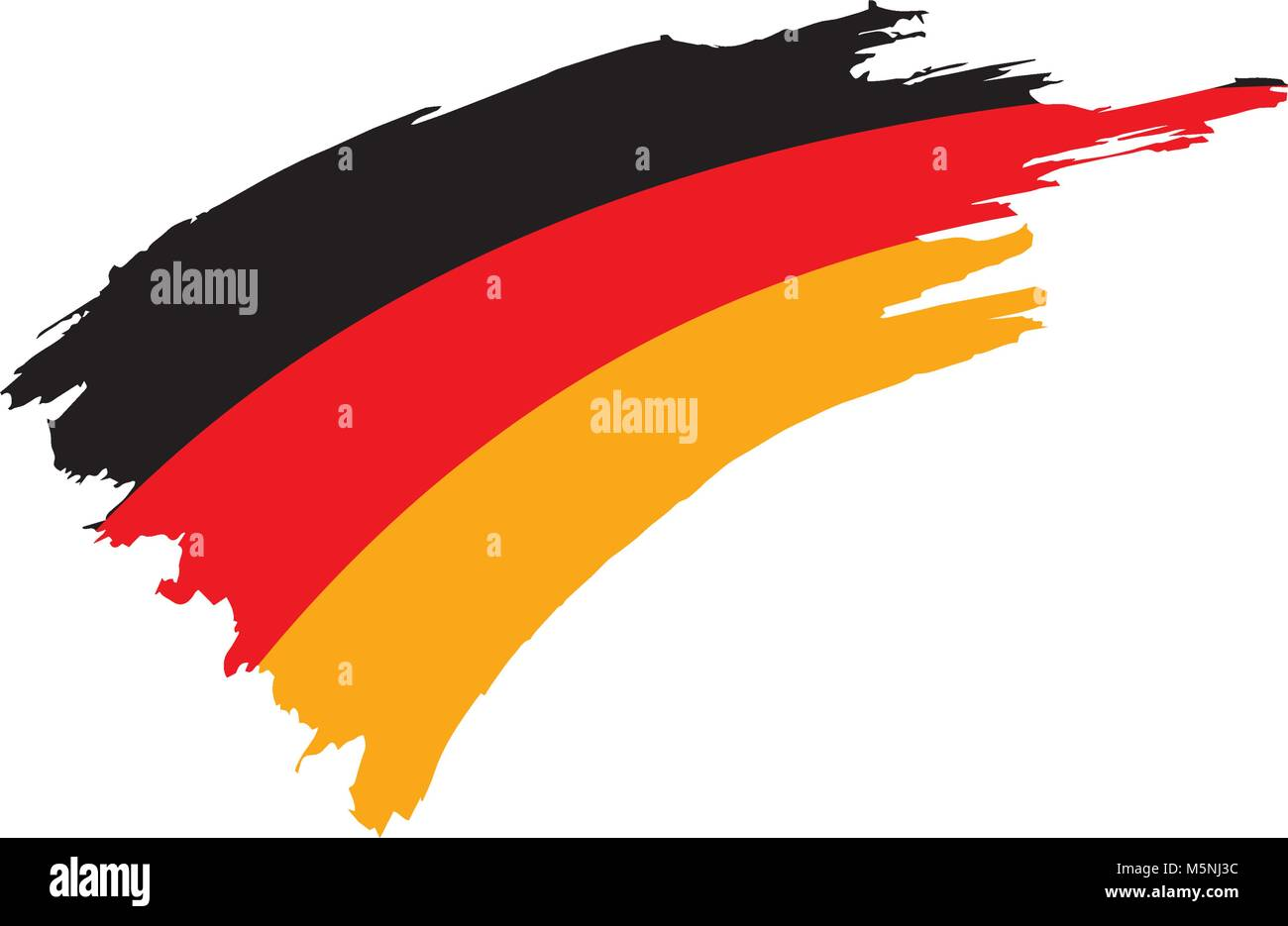 Germany flag, vector illustration - Stock Image