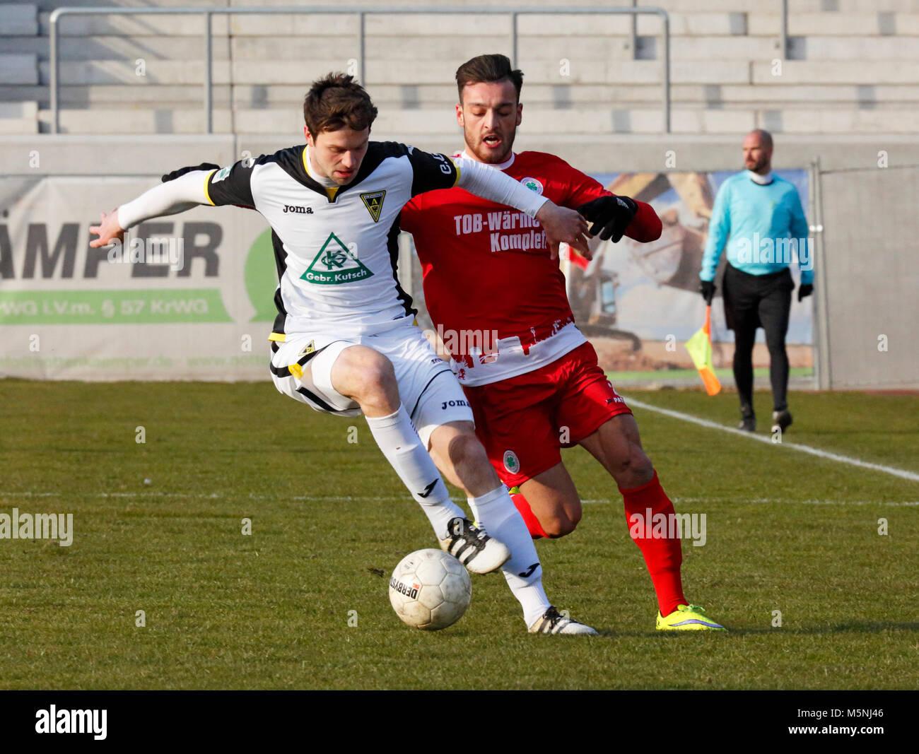 sports,football,Regional League West,2017/2018,Rot Weiss Oberhausen vs Alemannia Aachen 1:0,Stadium Niederrhein Stock Photo