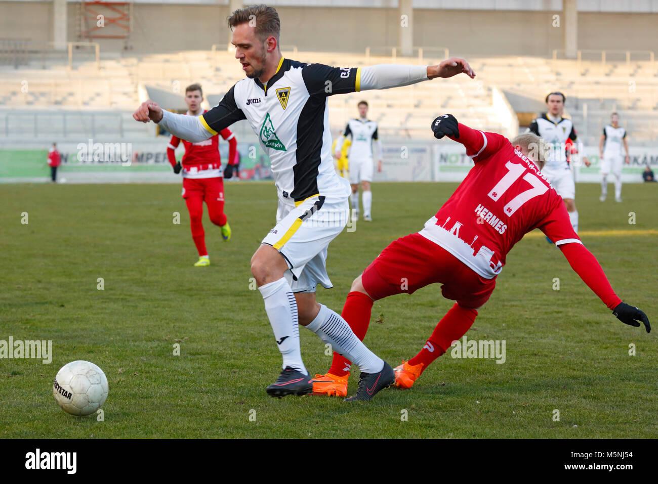sports,football,Regional League West,2017/2018,Rot Weiss Oberhausen vs Alemannia Aachen 1:0,Stadium Niederrhein - Stock Image