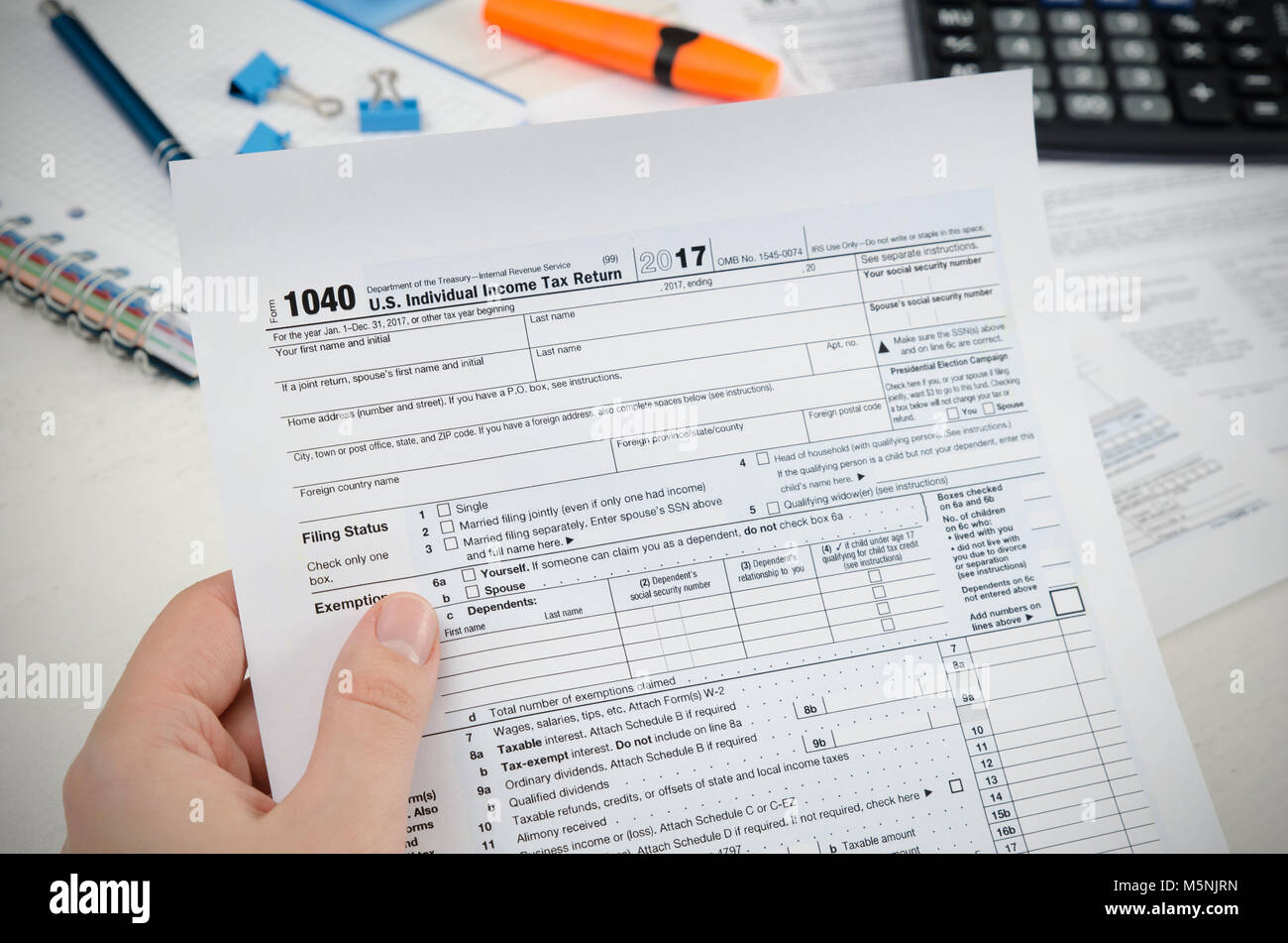 Us Tax Form Stock Photos Us Tax Form Stock Images Alamy