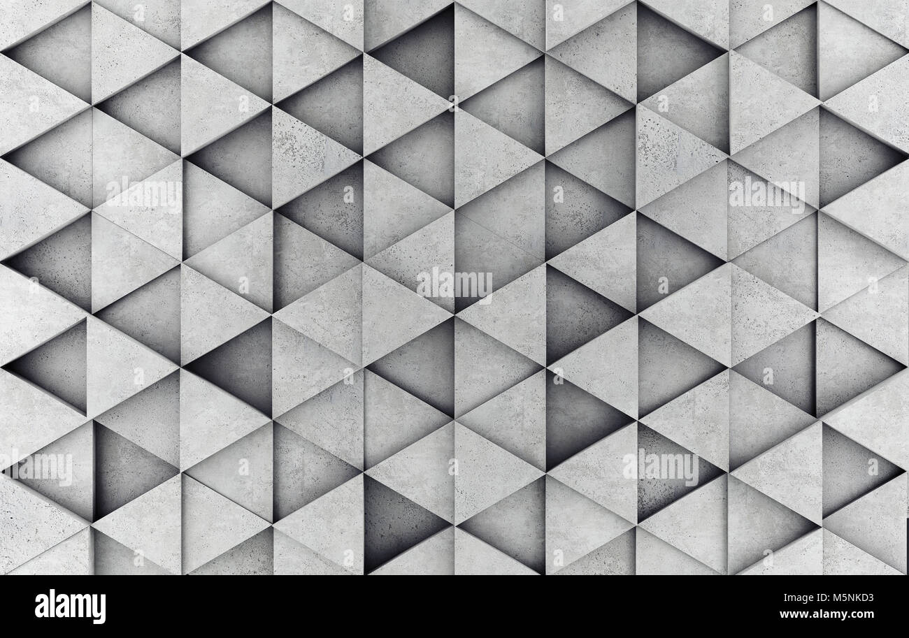 Concrete prism as a background. 3D rendering - Stock Image