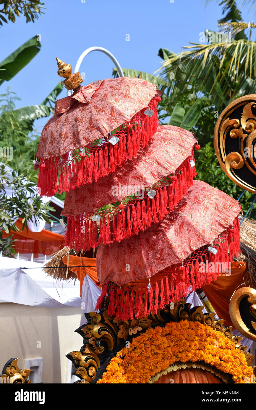 Decoration Used During A Traditional Balinese Wedding Stock