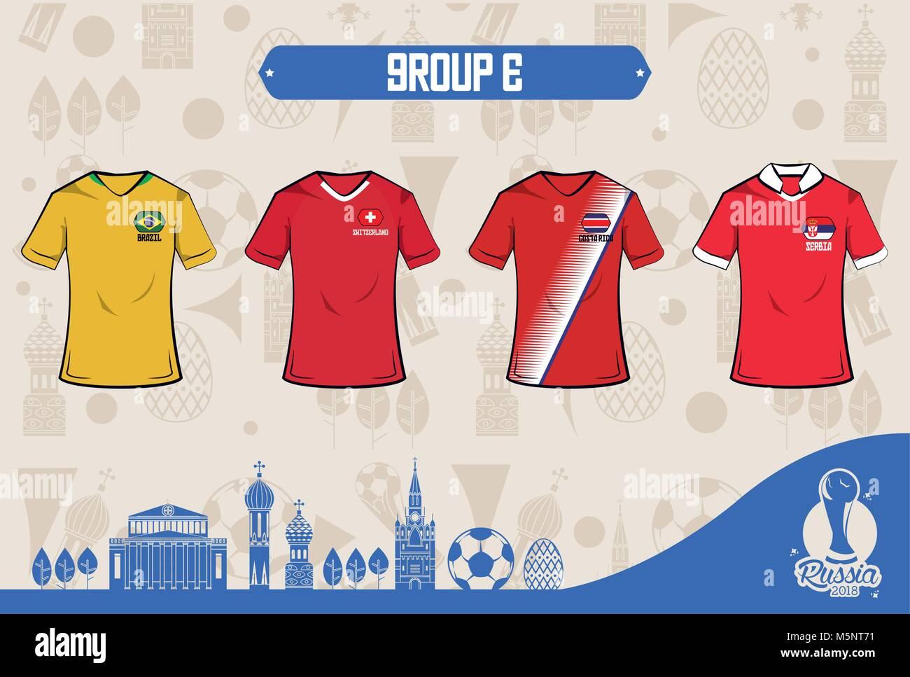 Football sport wear russia 2018 Stock Vector Art   Illustration ... b49ec4577
