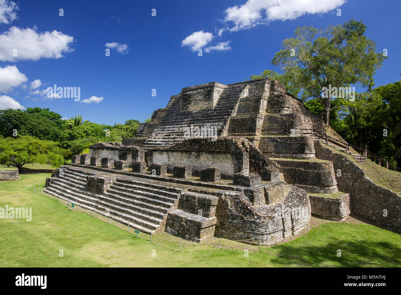 The Belize Altun Ha Mayan Ruins - Stock Image