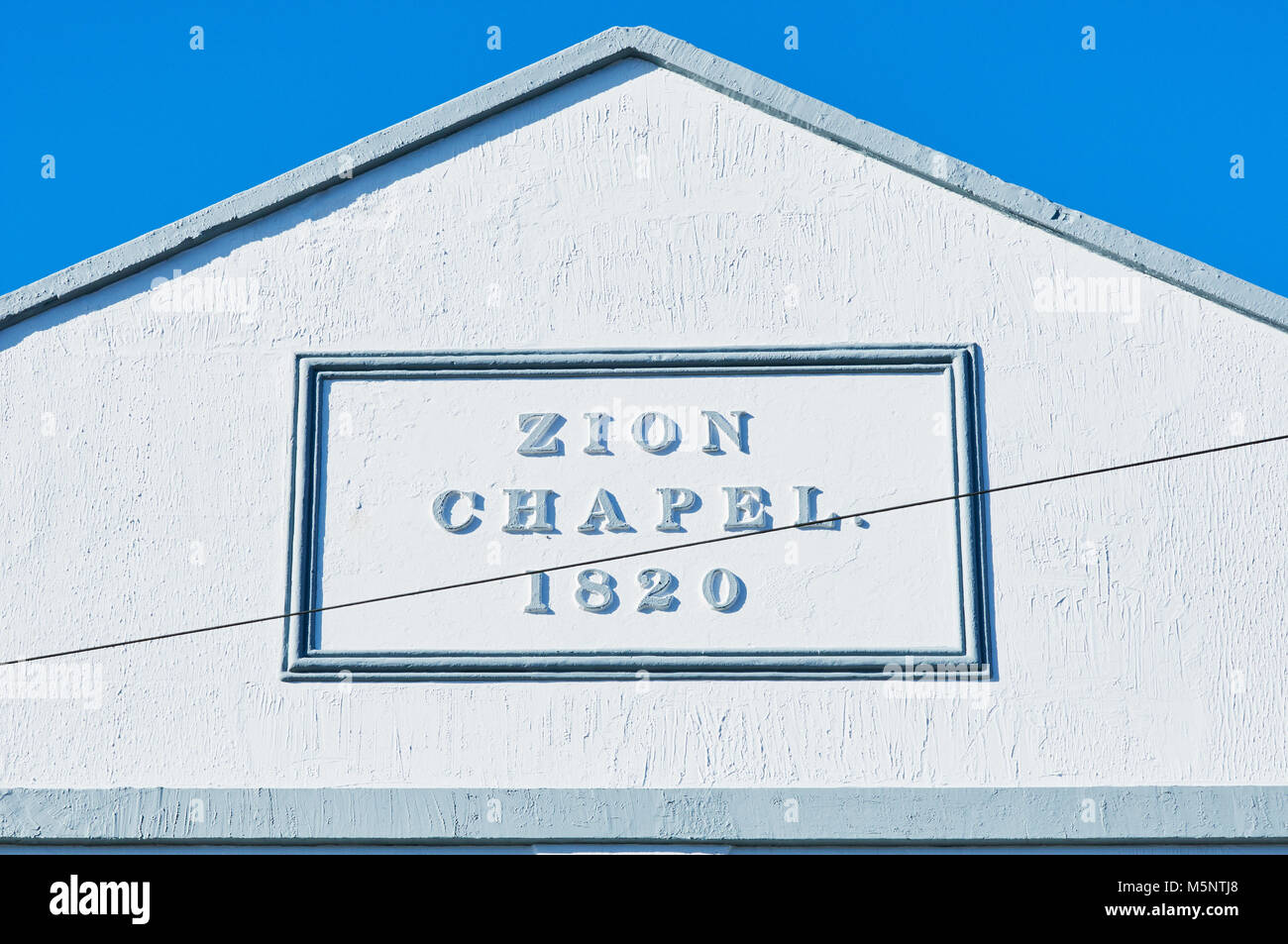 Gable of the Grade II listed Zion Chapel at Battle, East Sussex, UK - Stock Image