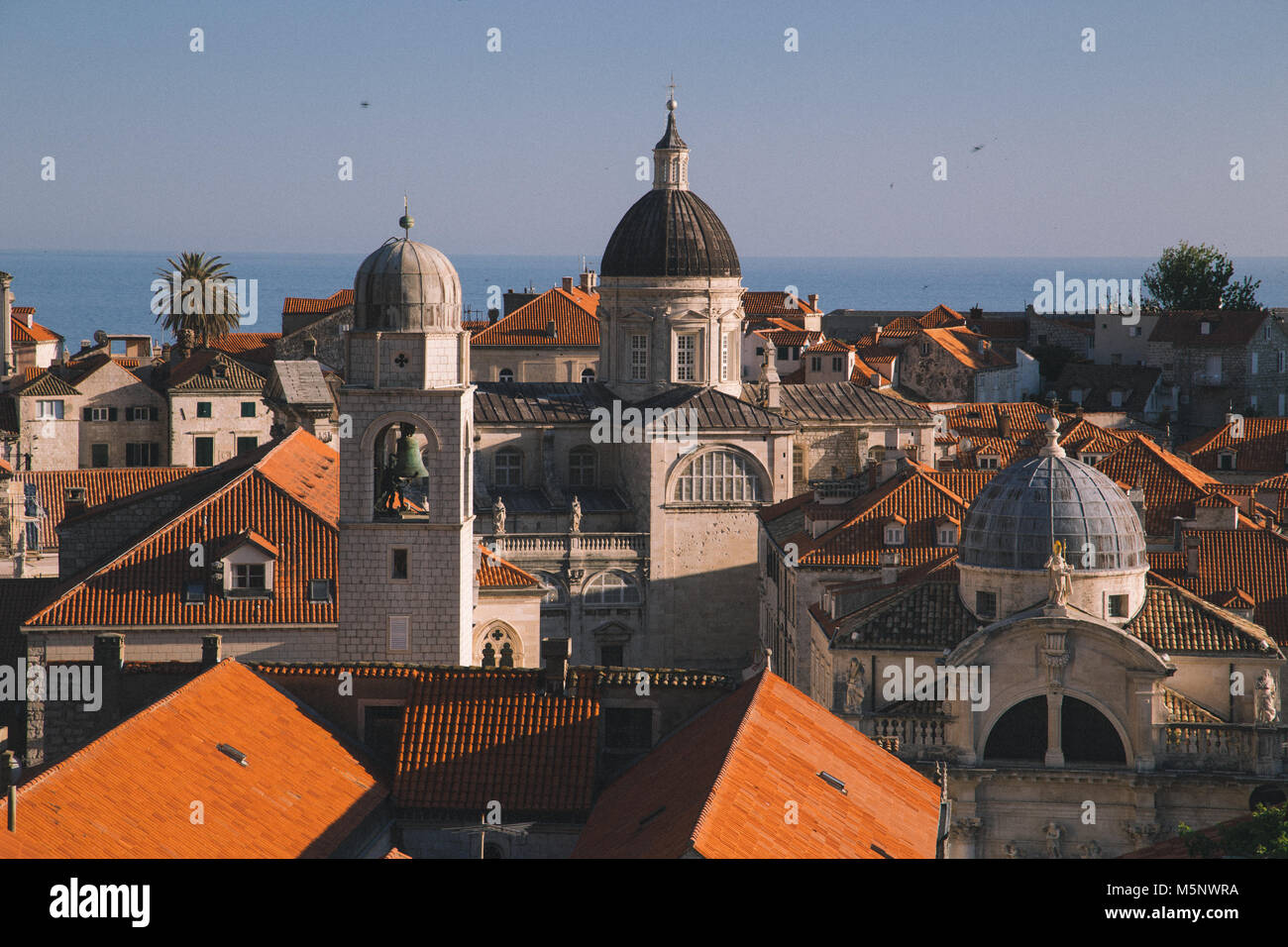 Classic panoramic view of the historic town of Dubrovnik, one of the most famous tourist destinations in the Mediterranean Stock Photo