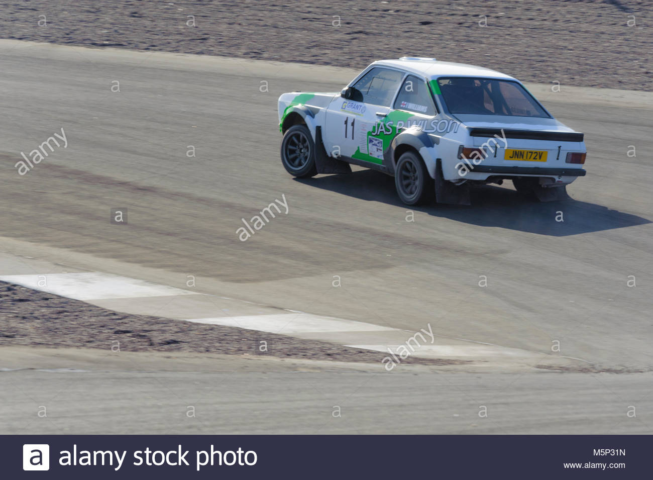 Dunfermline, UK. 25 February, 2018.  Ford Escort Mk2 at the Hairpin during the Grant Construction Rally at Knockhill. - Stock Image