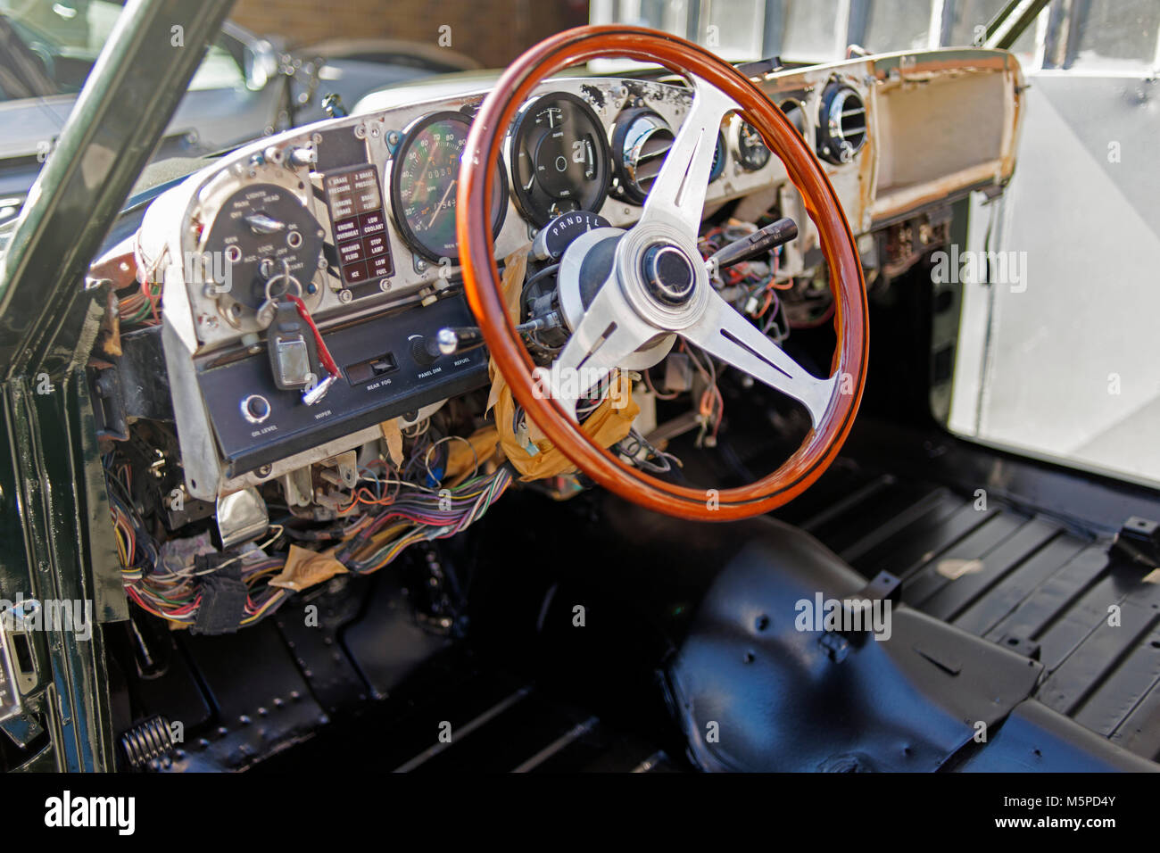 Inside View Of A Vintage Classical Luxury Rolls Royce Car Stock Photo Alamy