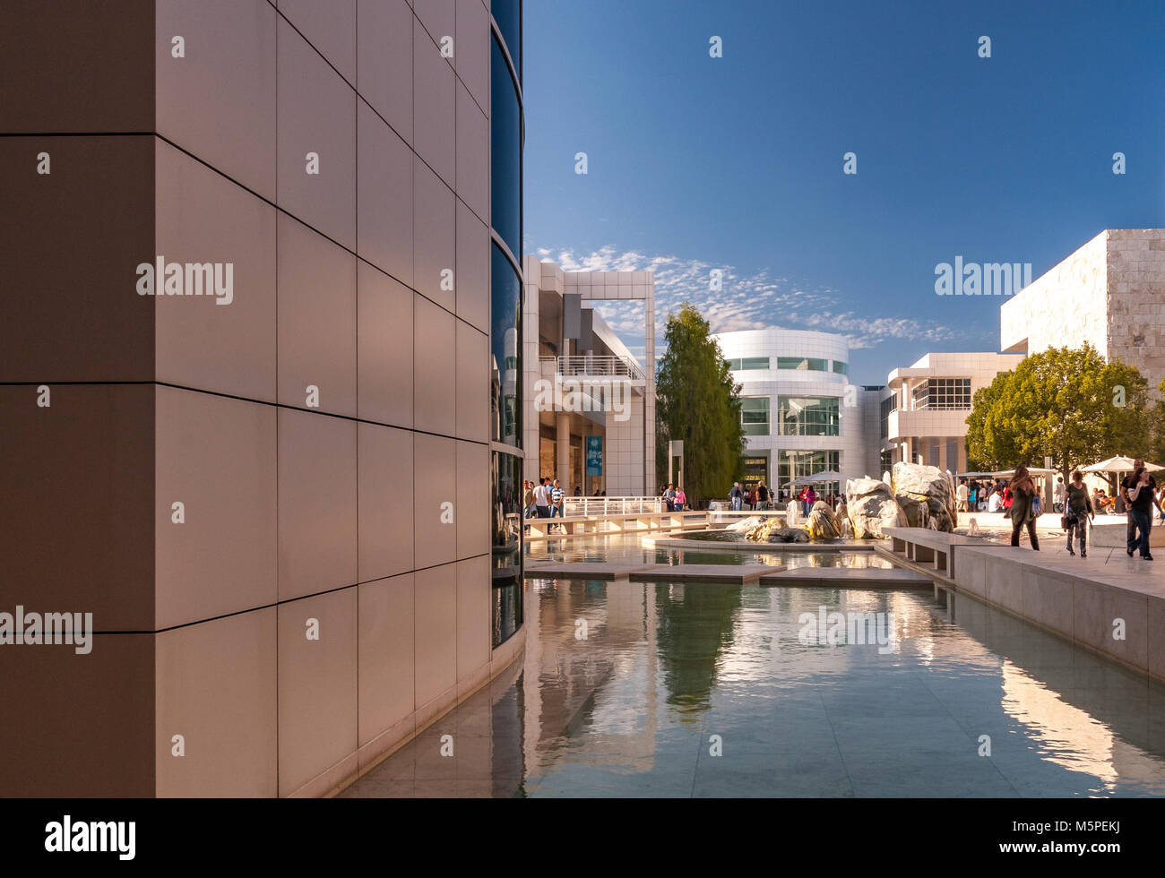 Getty Center , Brentwwod, Los Angeles , CA - Stock Image