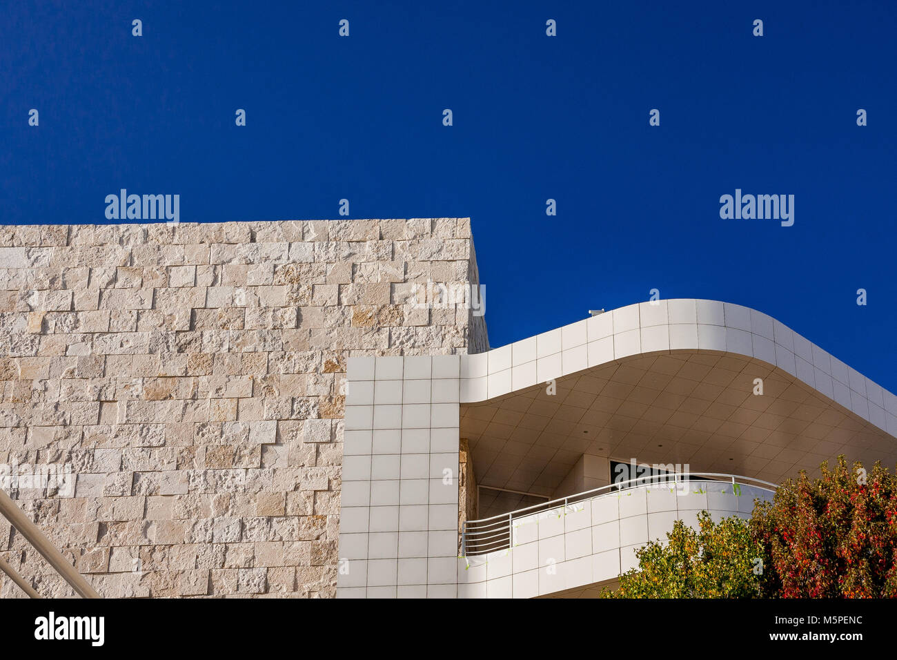 The Getty Center ,Brentwood  Los Angeles California - Stock Image
