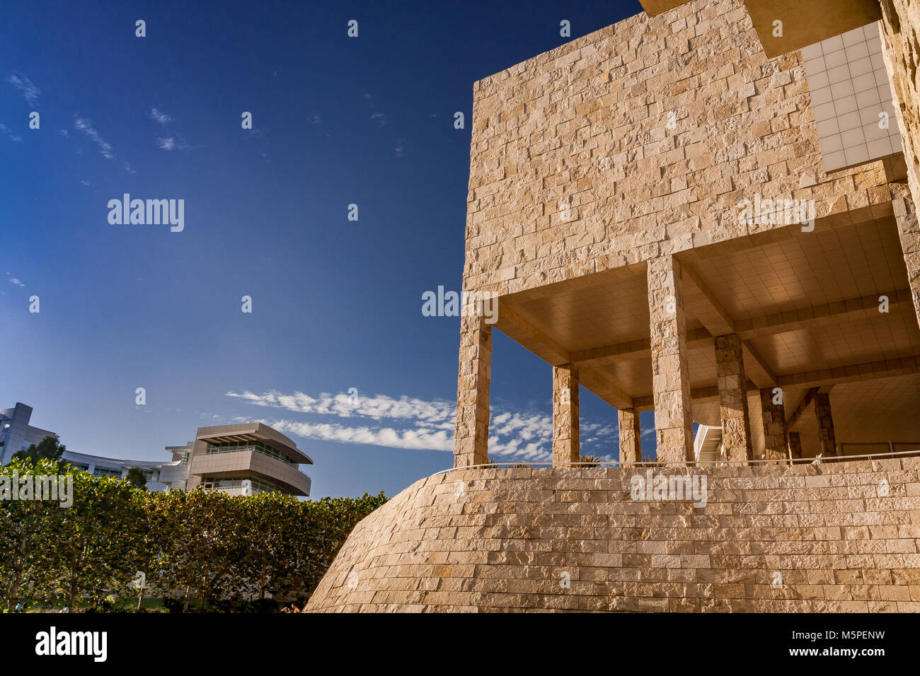 Museums exhibition Pavillion at The Getty Center ,Brentwood  Los Angeles California - Stock Image