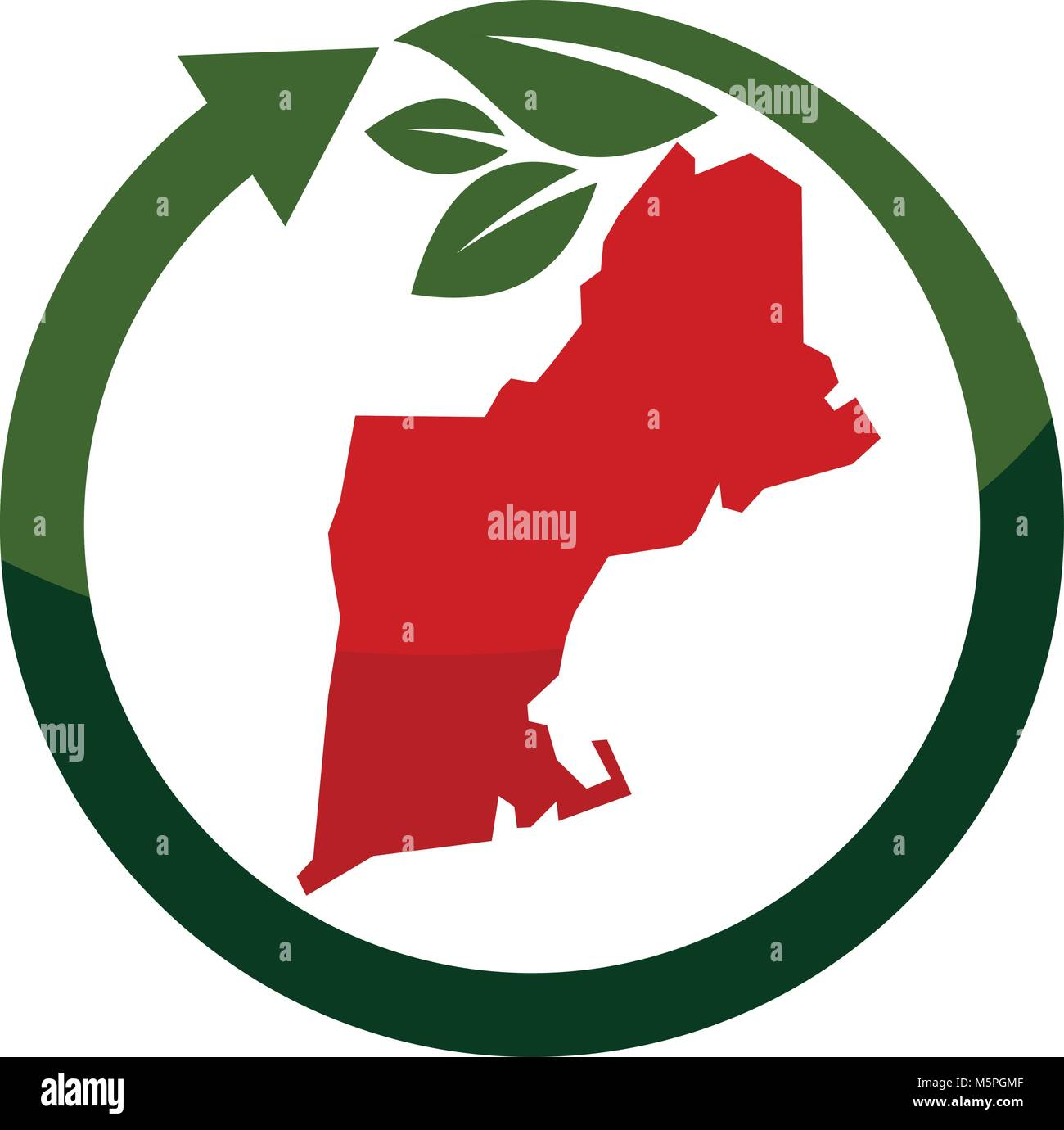 New England Traveling - Stock Vector
