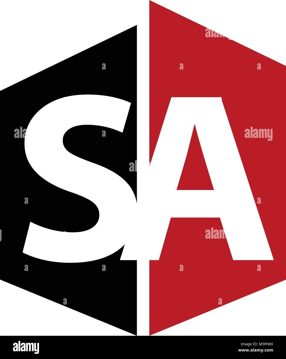 Letter SA Modern - Stock Vector