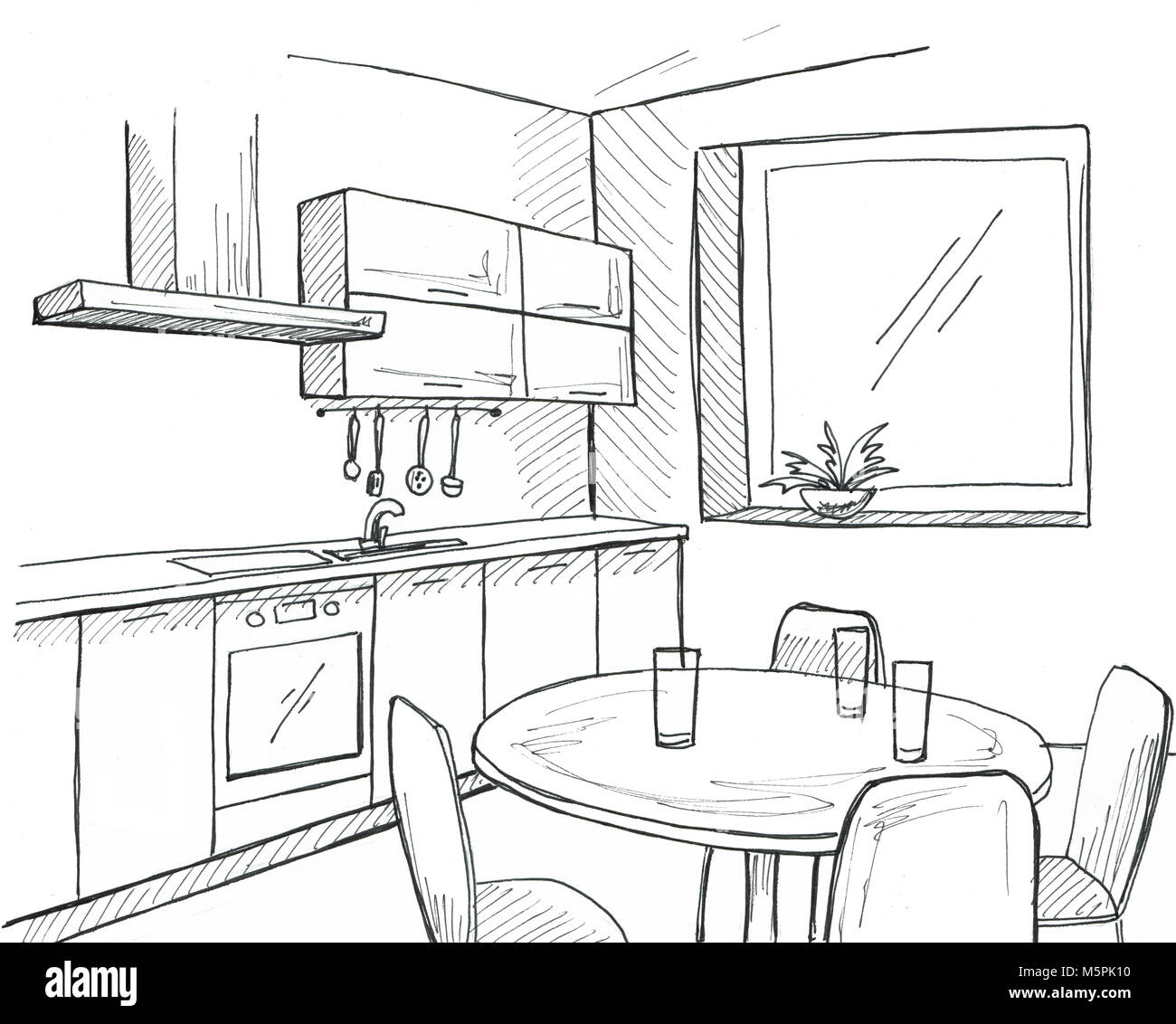 Kitchen Window Drawing: Sketch Of Tap Stock Photos & Sketch Of Tap Stock Images