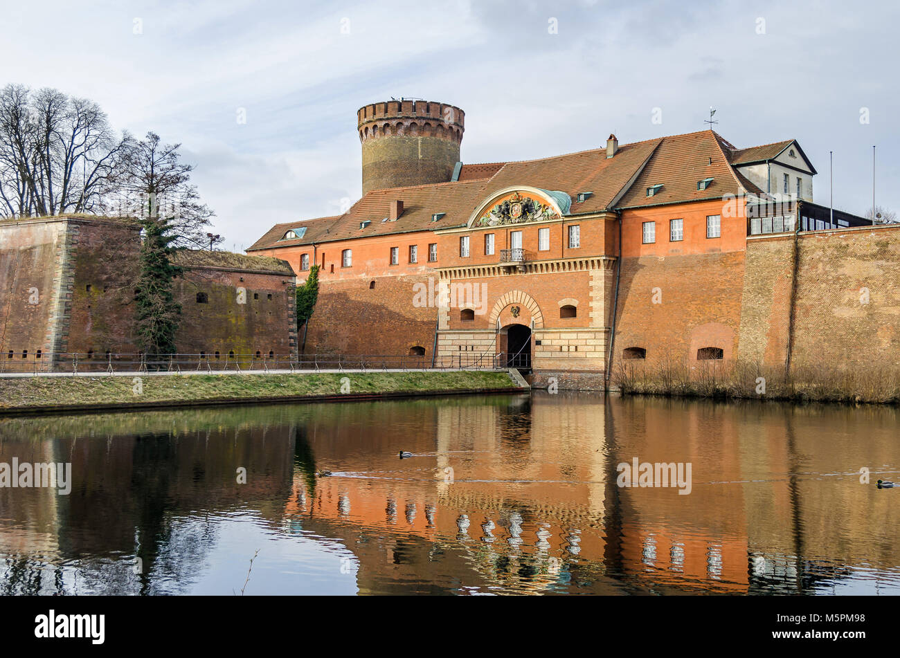 Spandau Citadel, one of the best preserved Renaissance military structures of Europe, now a museum. The part of the bastion Koenig (king bastion) Stock Photo