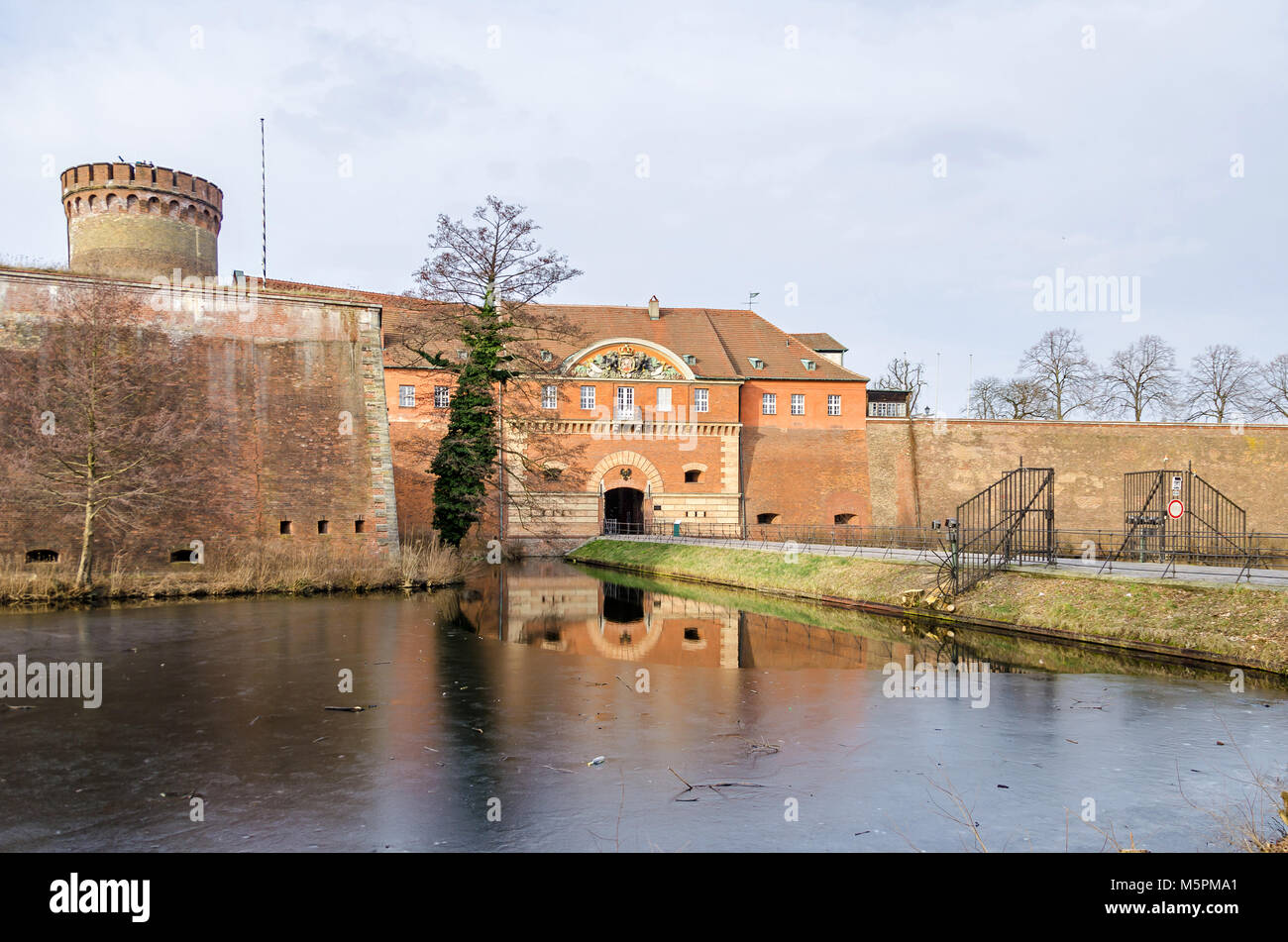 Spandau Citadel, one of the best preserved Renaissance military structures of Europe, now a museum. The part of the bastion Koenig (king bastion) with Stock Photo