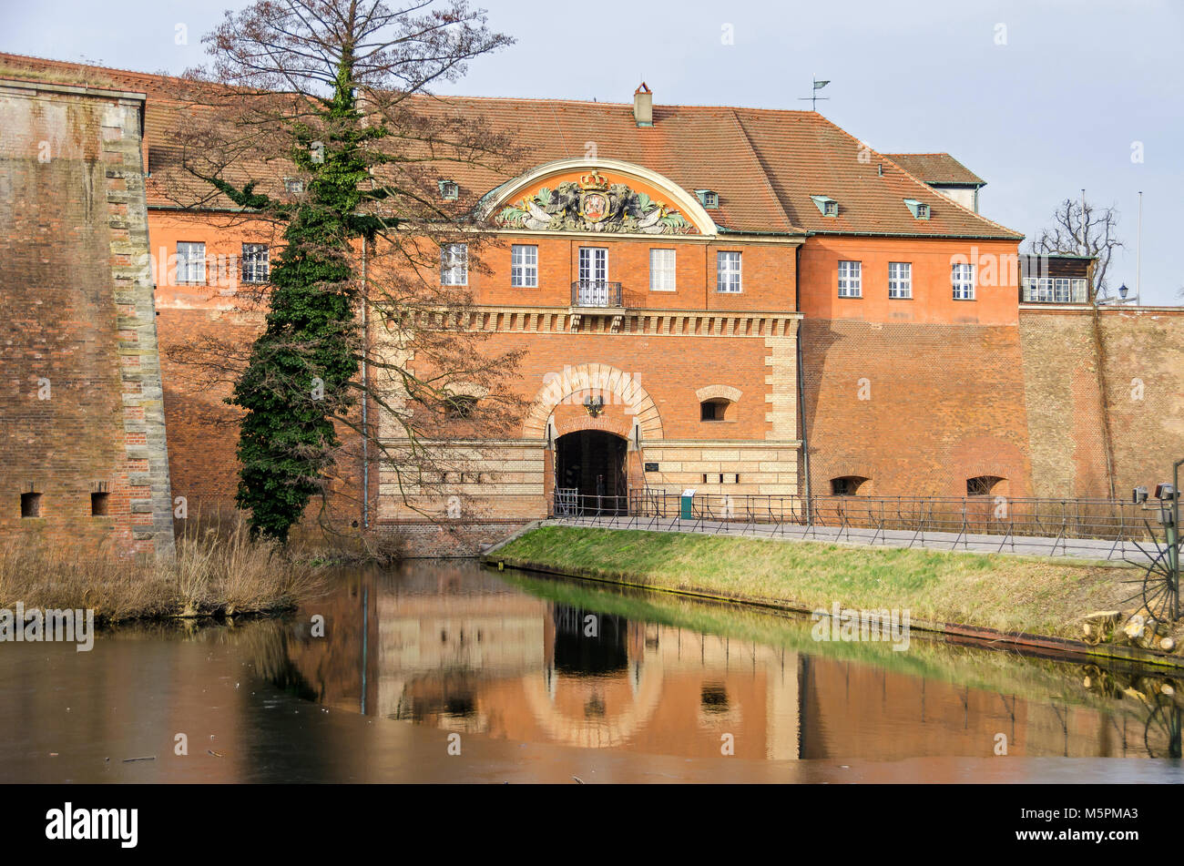 Spandau Citadel, one of the best preserved Renaissance military structures of Europe, now a museum. The part of the bastion Koenig (king bastion) and  Stock Photo