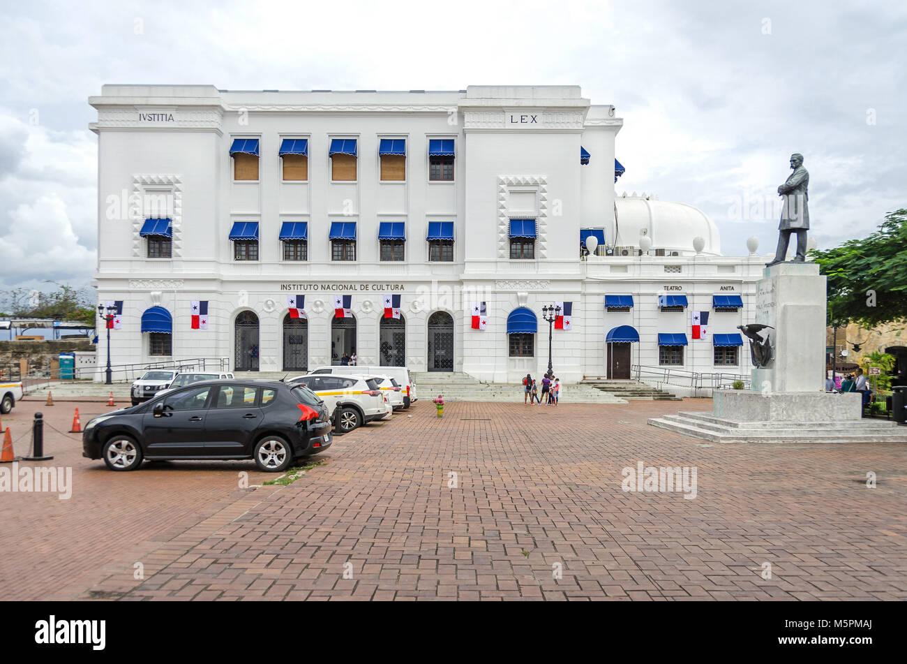 Panama City, Panama - November 3, 2017: National Institute of culture (Instituto National de Cultura) in the historic - Stock Image
