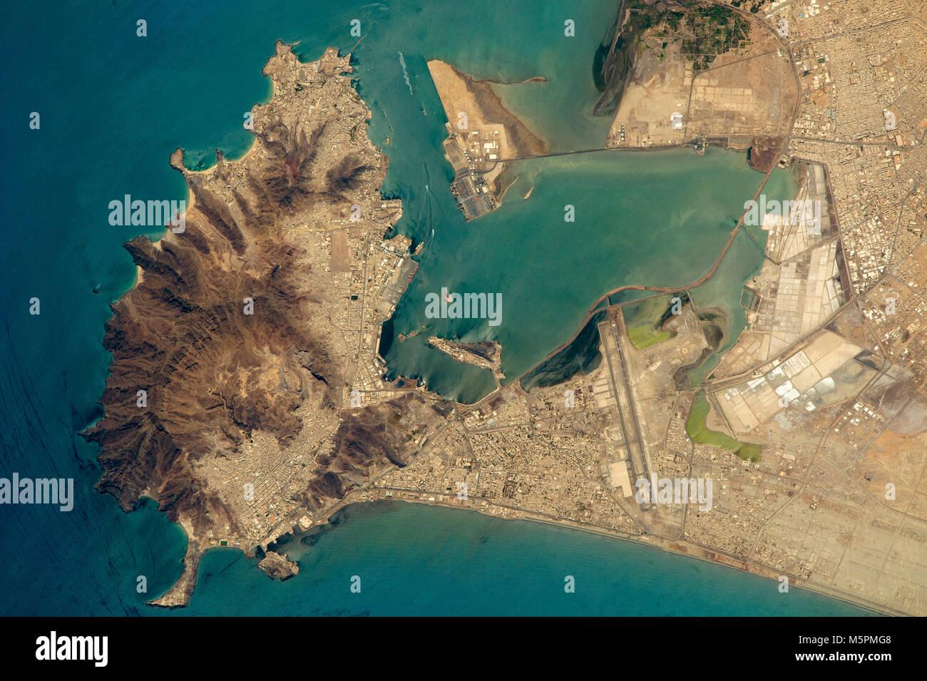 The port of Aden in Yemen - Stock Image