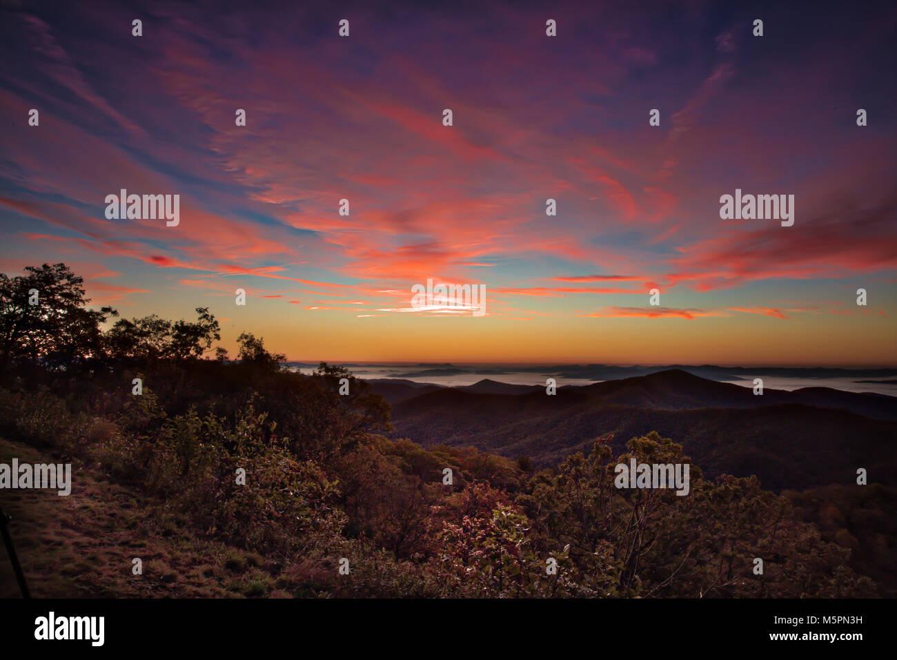 Pounding Mill Overlook Sunrise - Stock Image