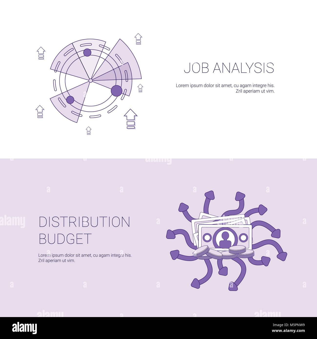 Job analysis and budget distribution concept template web banner job analysis and budget distribution concept template web banner with copy space ccuart Images