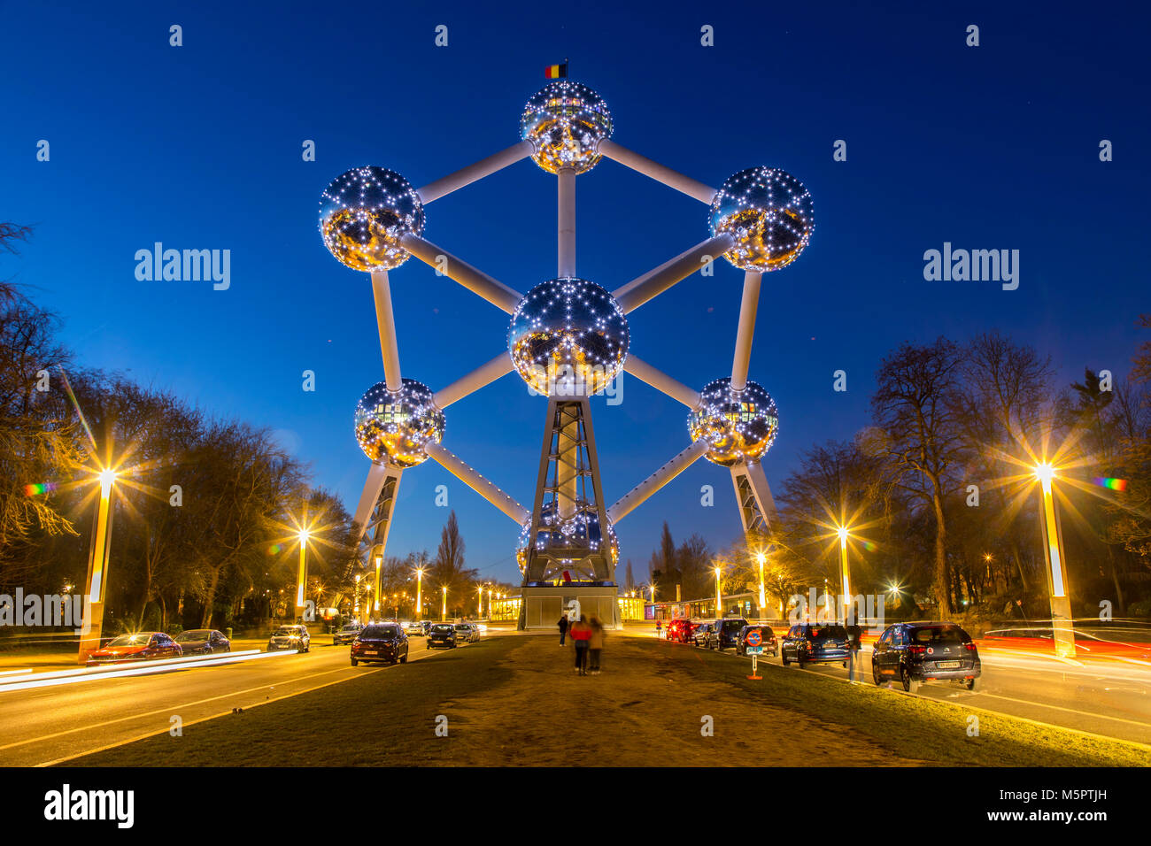 The Atomium in Brussels, Belgium, - Stock Image