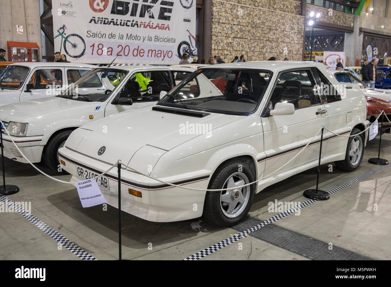 1992 Seat Ibiza Raider (Anibal, F100). Retro Málaga 2018. Spain. - Stock Image