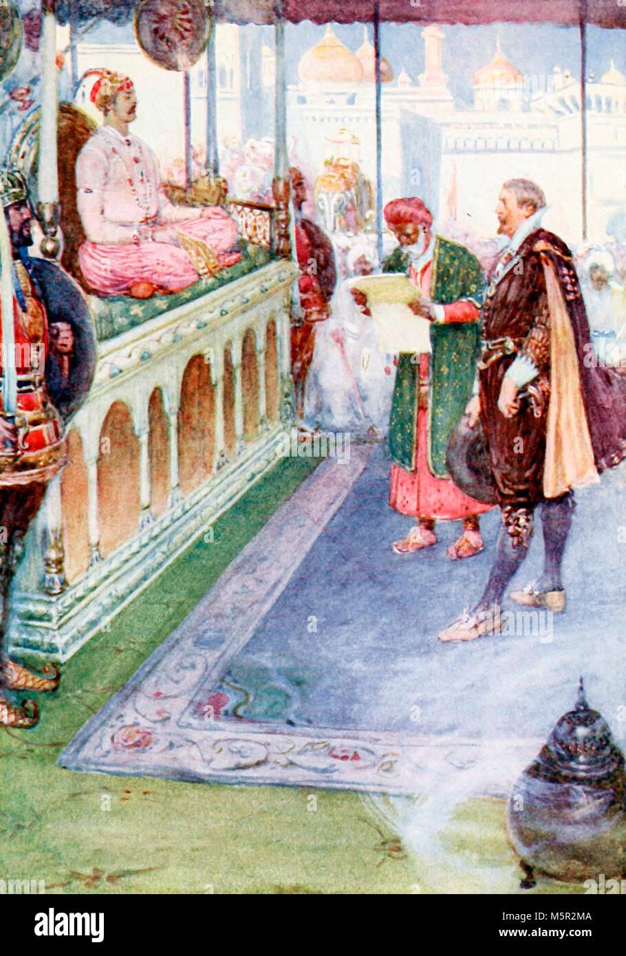 Sir Thomas stood before the Mogul - Stock Image