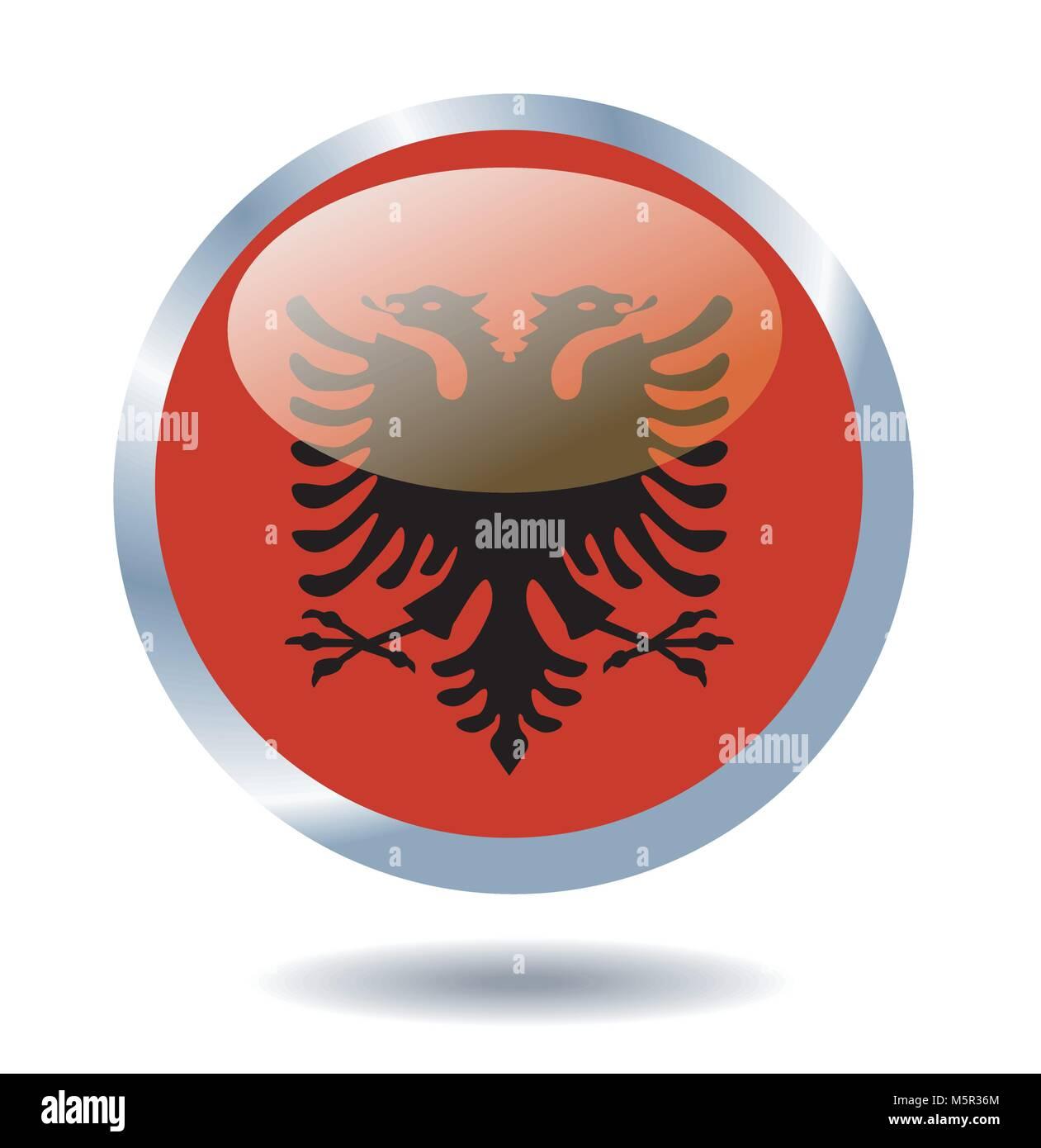 vector flag of Albania - Stock Image