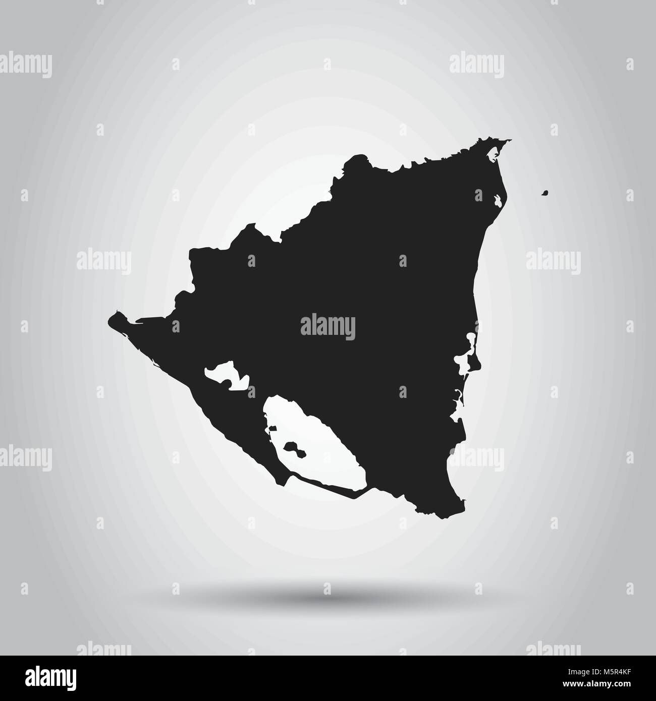 Nicaragua vector map black icon on white background stock vector nicaragua vector map black icon on white background gumiabroncs Image collections