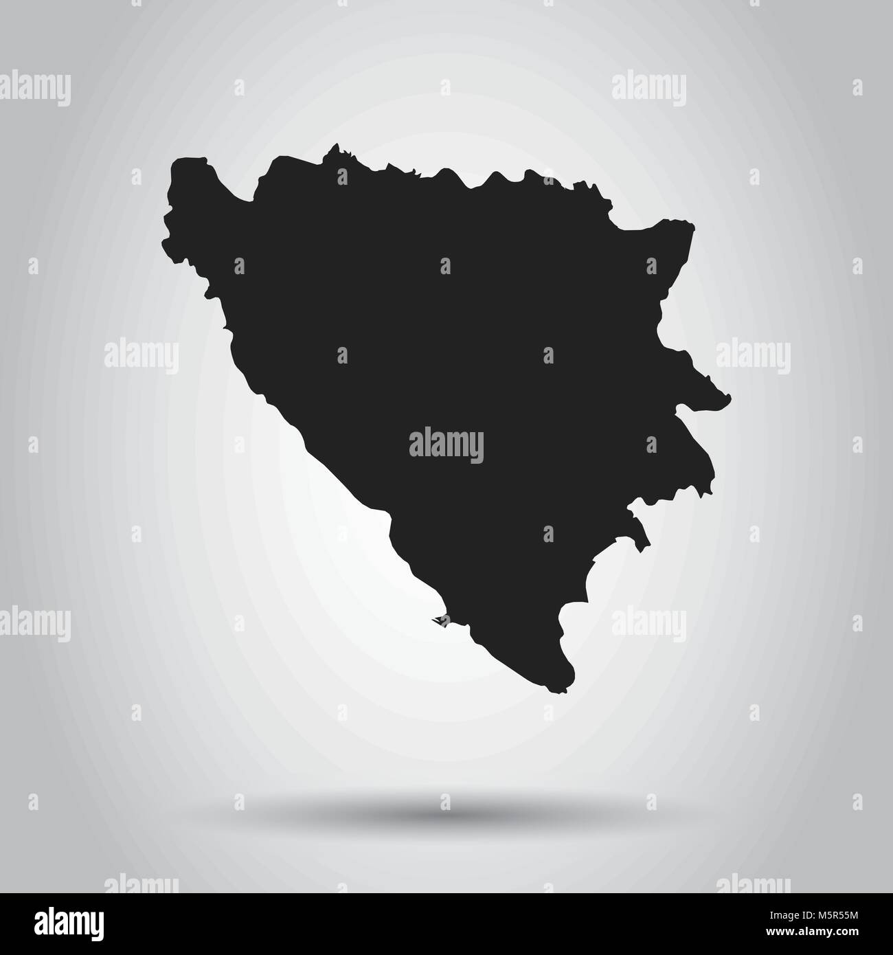 Bosnia and Herzegovina vector map. Black icon on white background. - Stock Vector