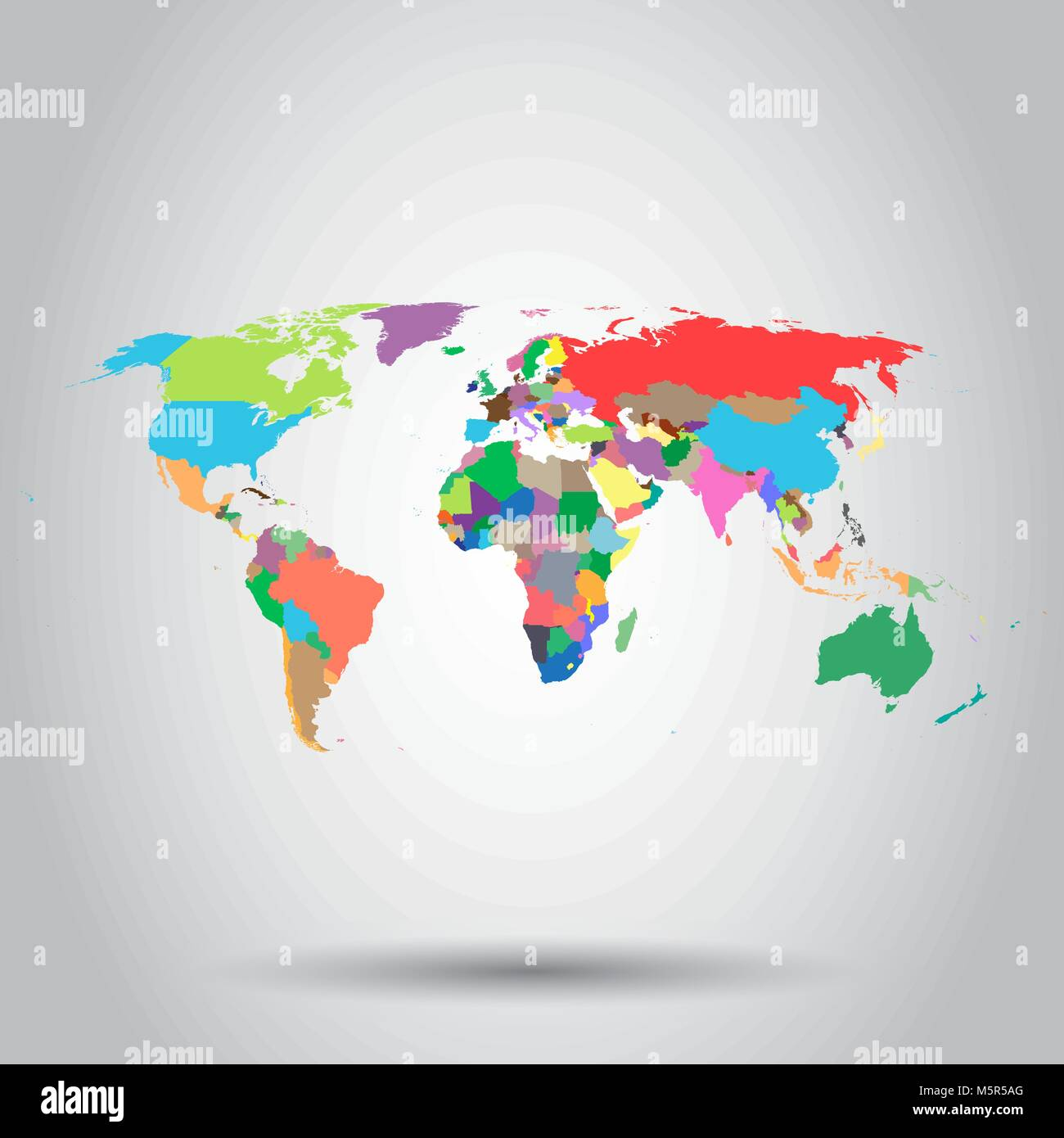 Detailed vector map asia pacific stock photos detailed vector map world map colorful political icon business concept world map pictogram vector illustration on white gumiabroncs Image collections