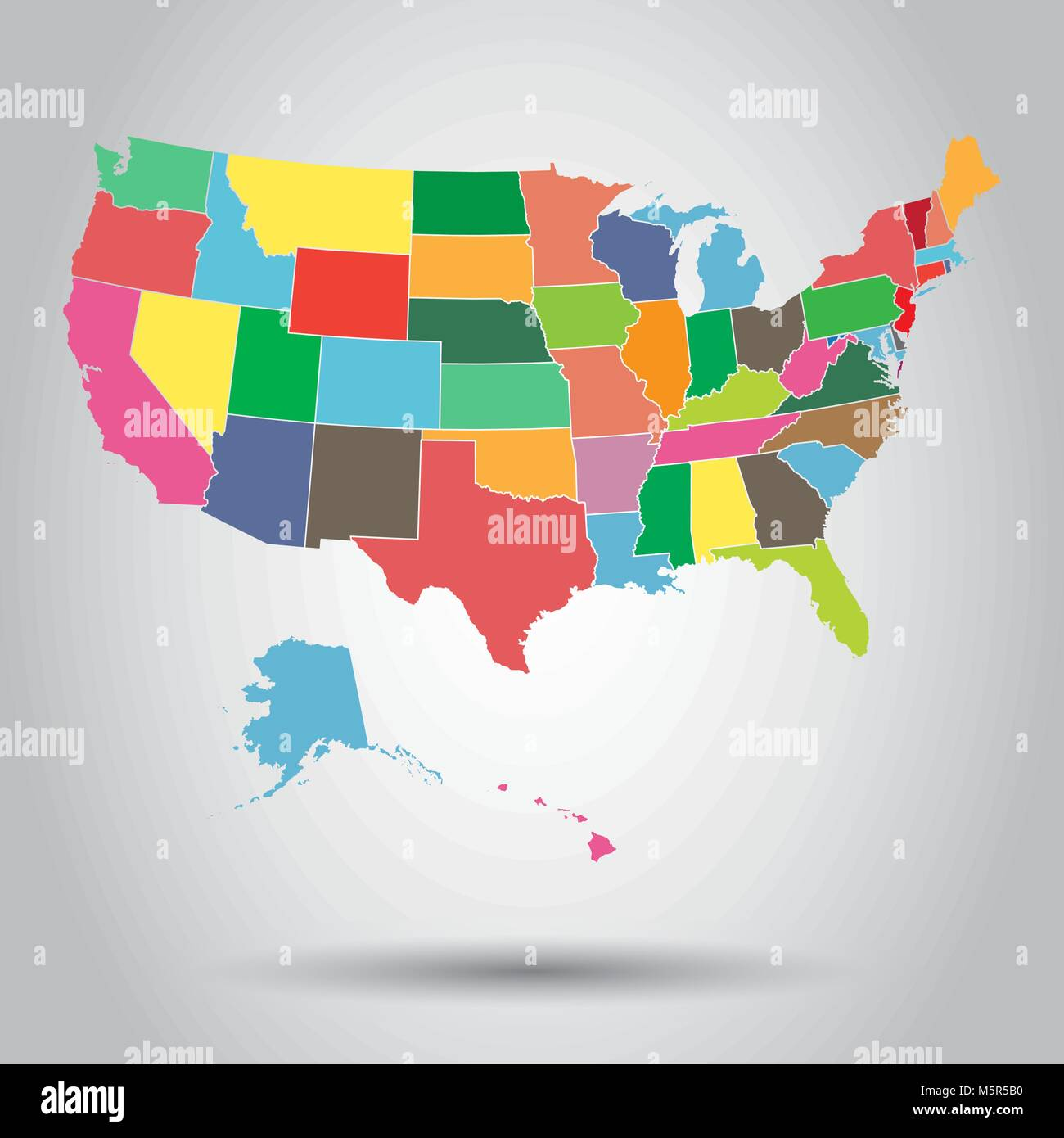 USA map icon. Business cartography concept United States of ...