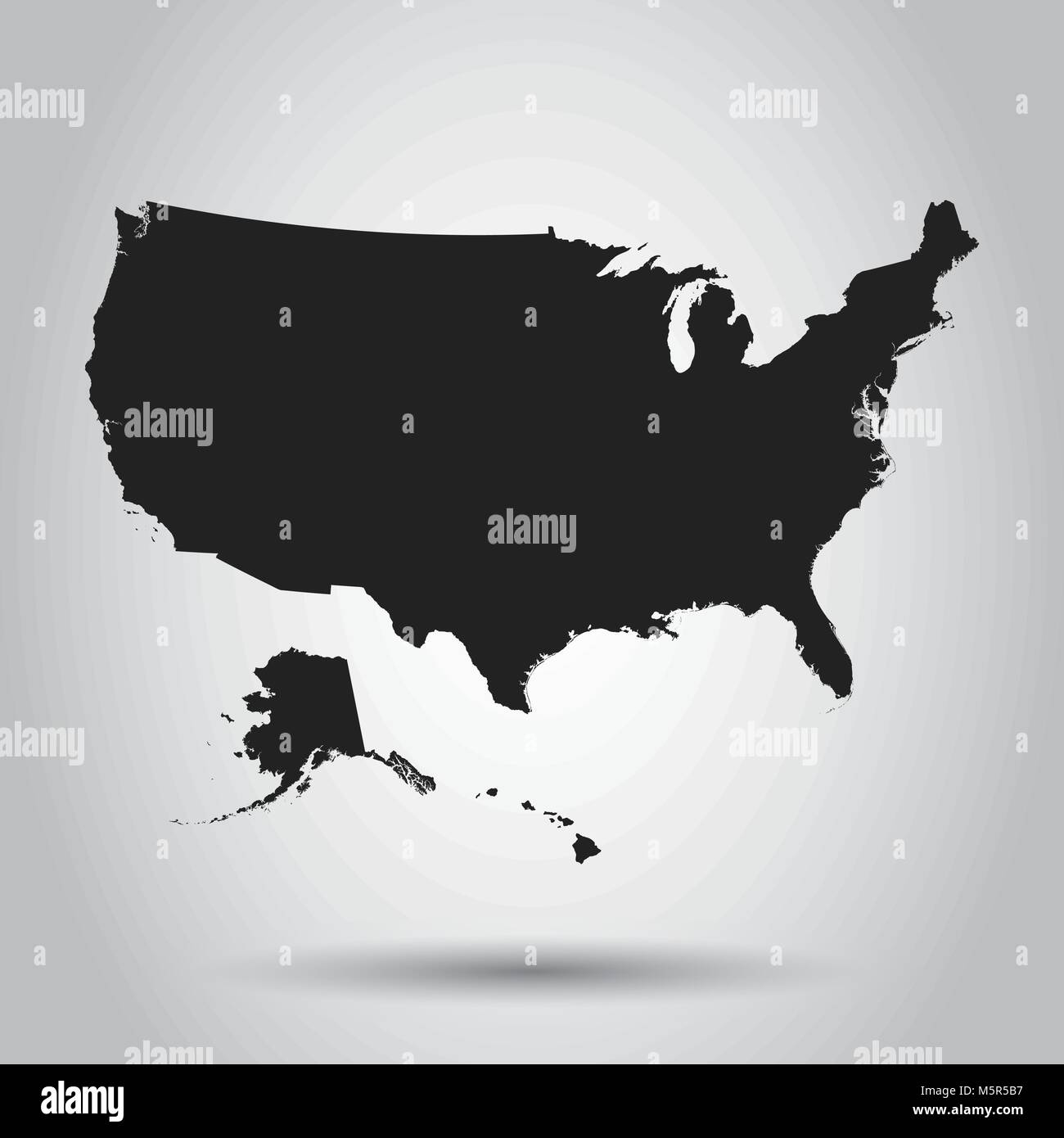 usa map icon business cartography concept united states of america pictogram vector illustration on