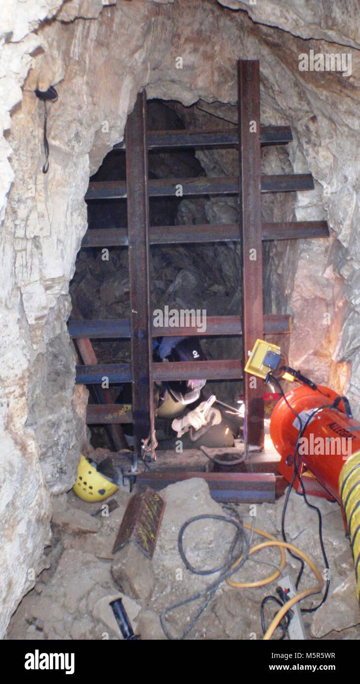 Mine closure work; Hexahedron Mine . - Stock Image