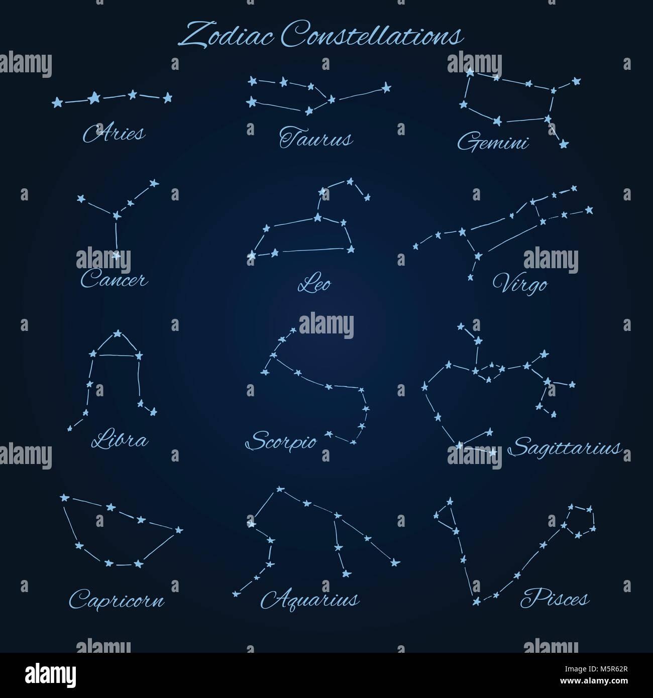 Capricorn And Aquarius Constellations Stock Photos Capricorn And