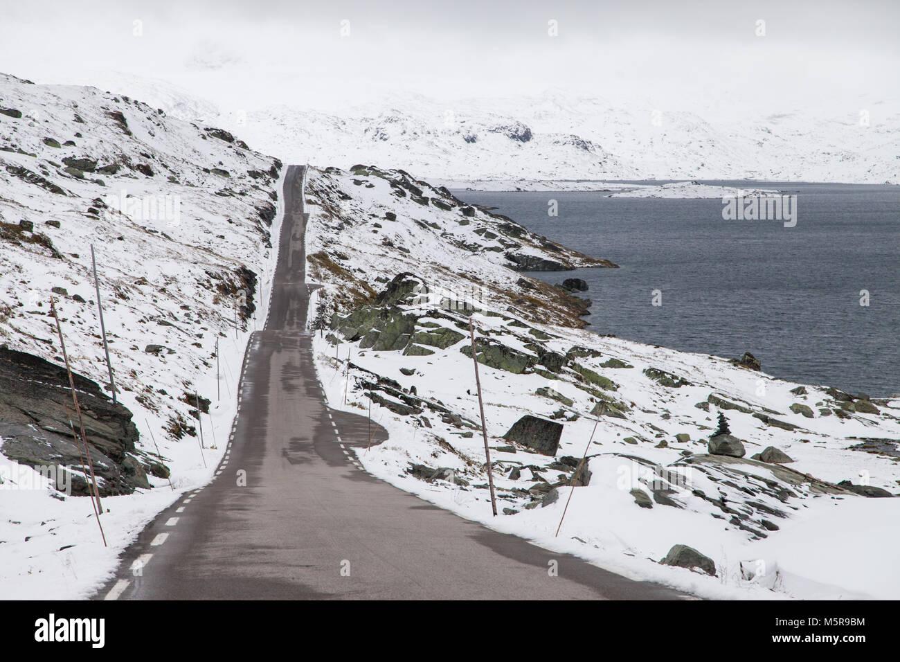 Sognefjellet Mountain Pass, Jotunheimen National Park, Norway. - Stock Image
