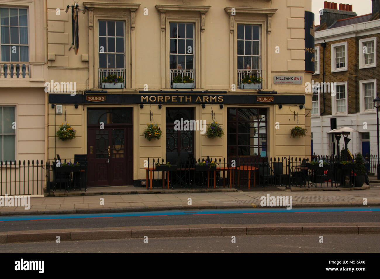 Colour Photograph of the Morpeth Arms, London, England, UK. Credit: London Snapper - Stock Image