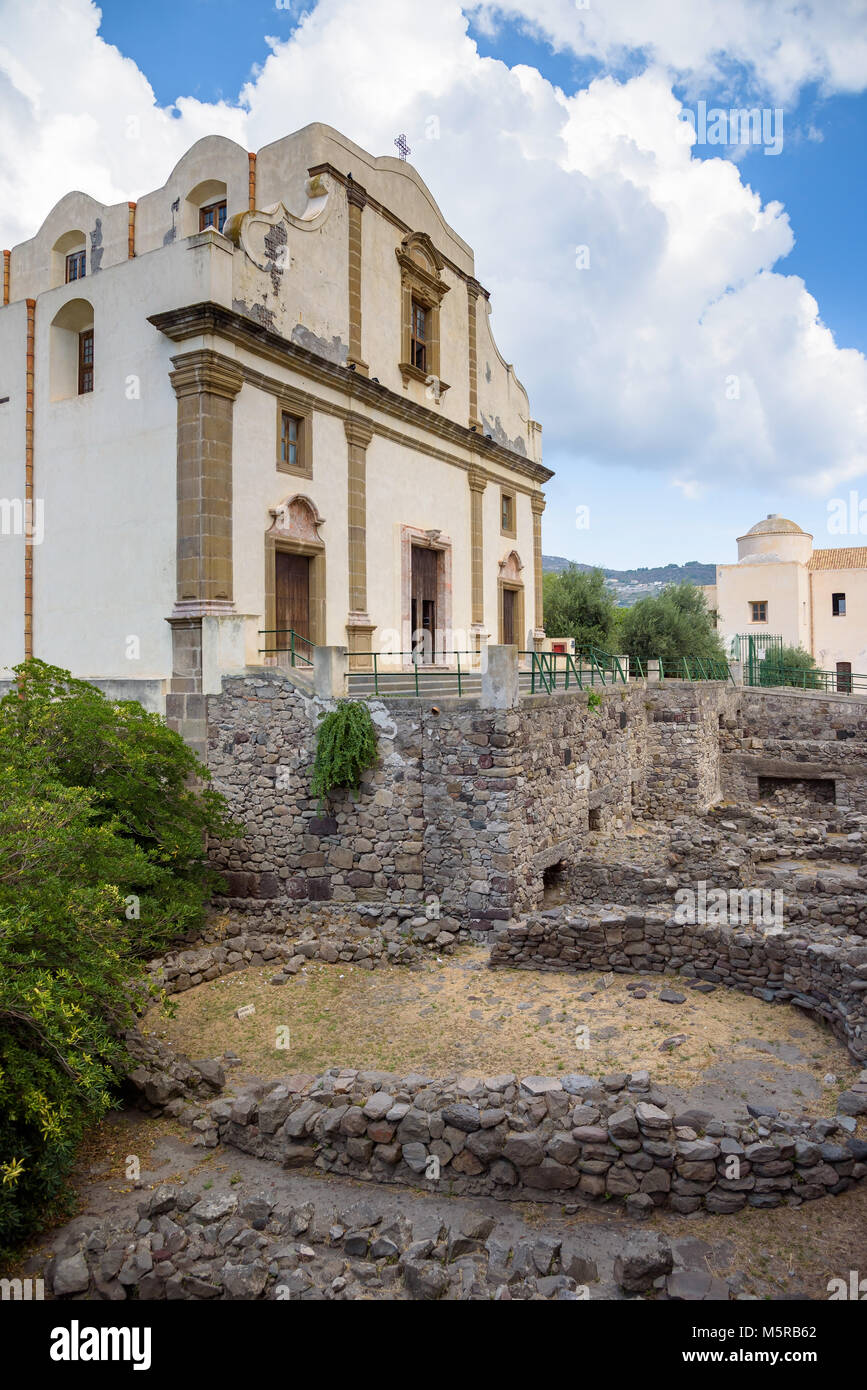 Church of the Immaculate in Lipari, Aeolian Islands, Italy Stock Photo